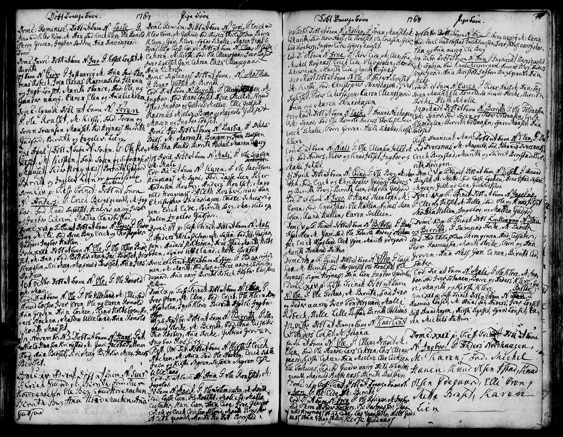 SAT, Ministerialprotokoller, klokkerbøker og fødselsregistre - Møre og Romsdal, 555/L0648: Ministerialbok nr. 555A01, 1759-1793, s. 44