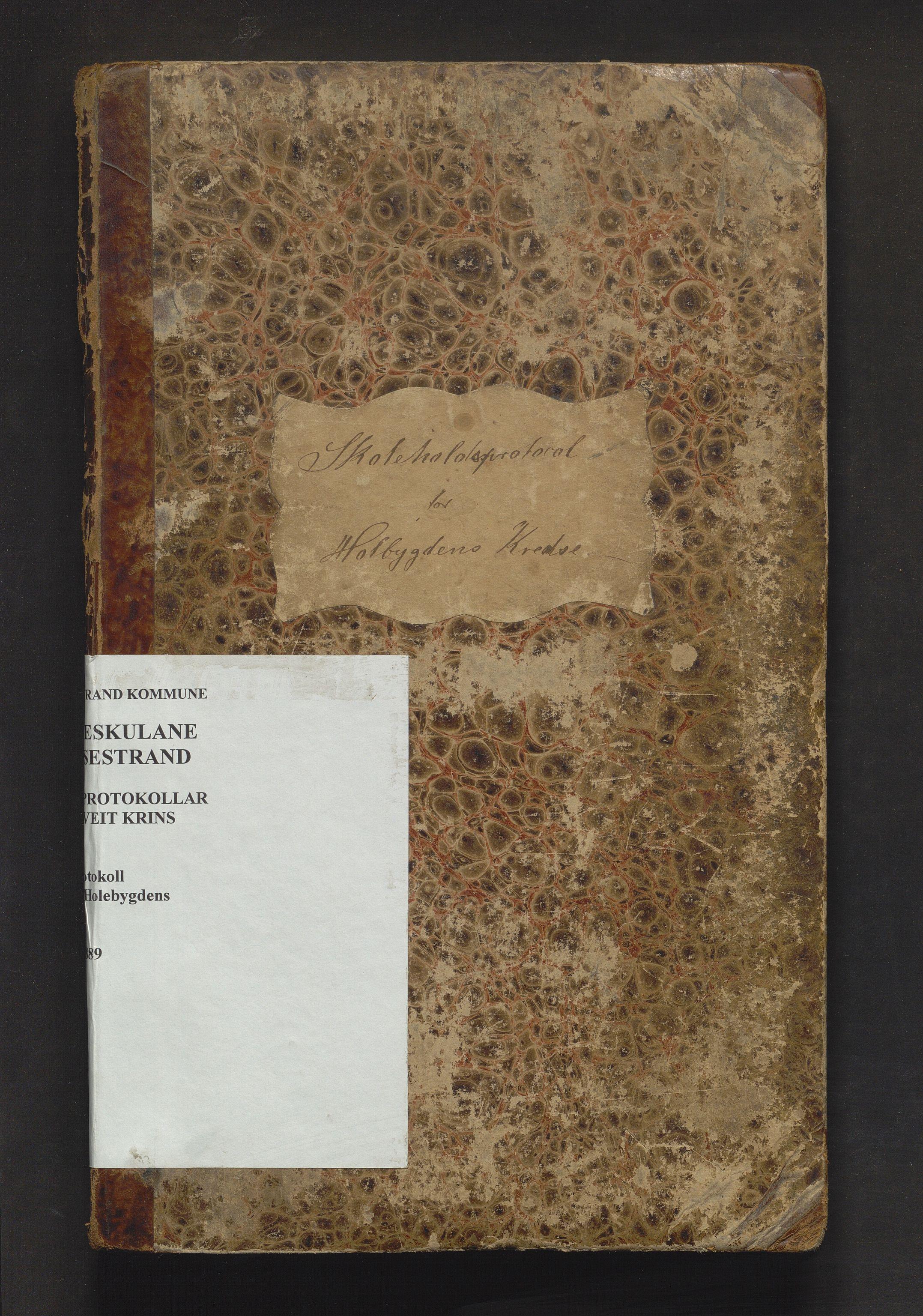 IKAH, Vossestrand kommune. Barneskulane , F/Fe/L0001: Skuleprotokoll for Hole og Holebygdens krinsar, 1866-1889