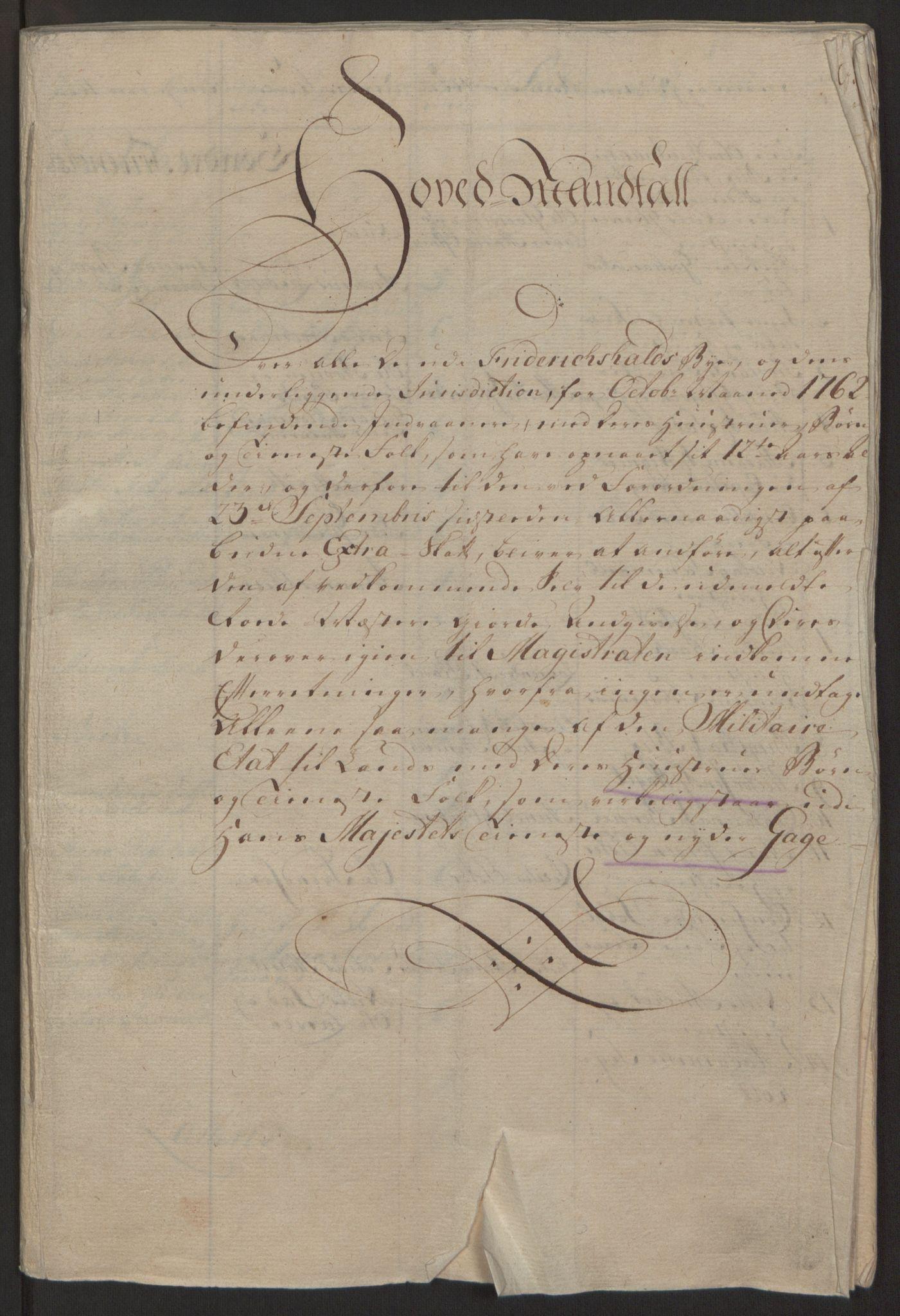 RA, Rentekammeret inntil 1814, Reviderte regnskaper, Byregnskaper, R/Ra/L0006: [A4] Kontribusjonsregnskap, 1762-1772, s. 12