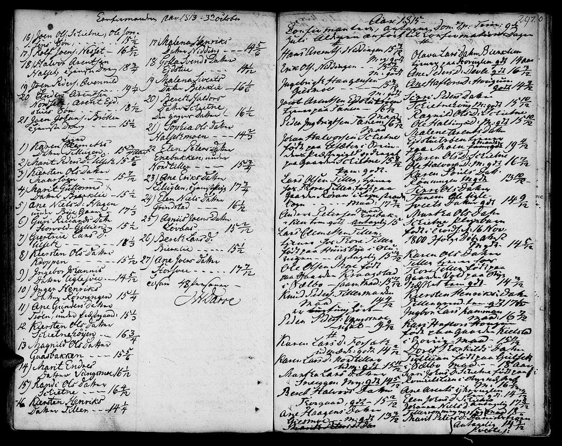 SAT, Ministerialprotokoller, klokkerbøker og fødselsregistre - Sør-Trøndelag, 618/L0438: Ministerialbok nr. 618A03, 1783-1815, s. 297