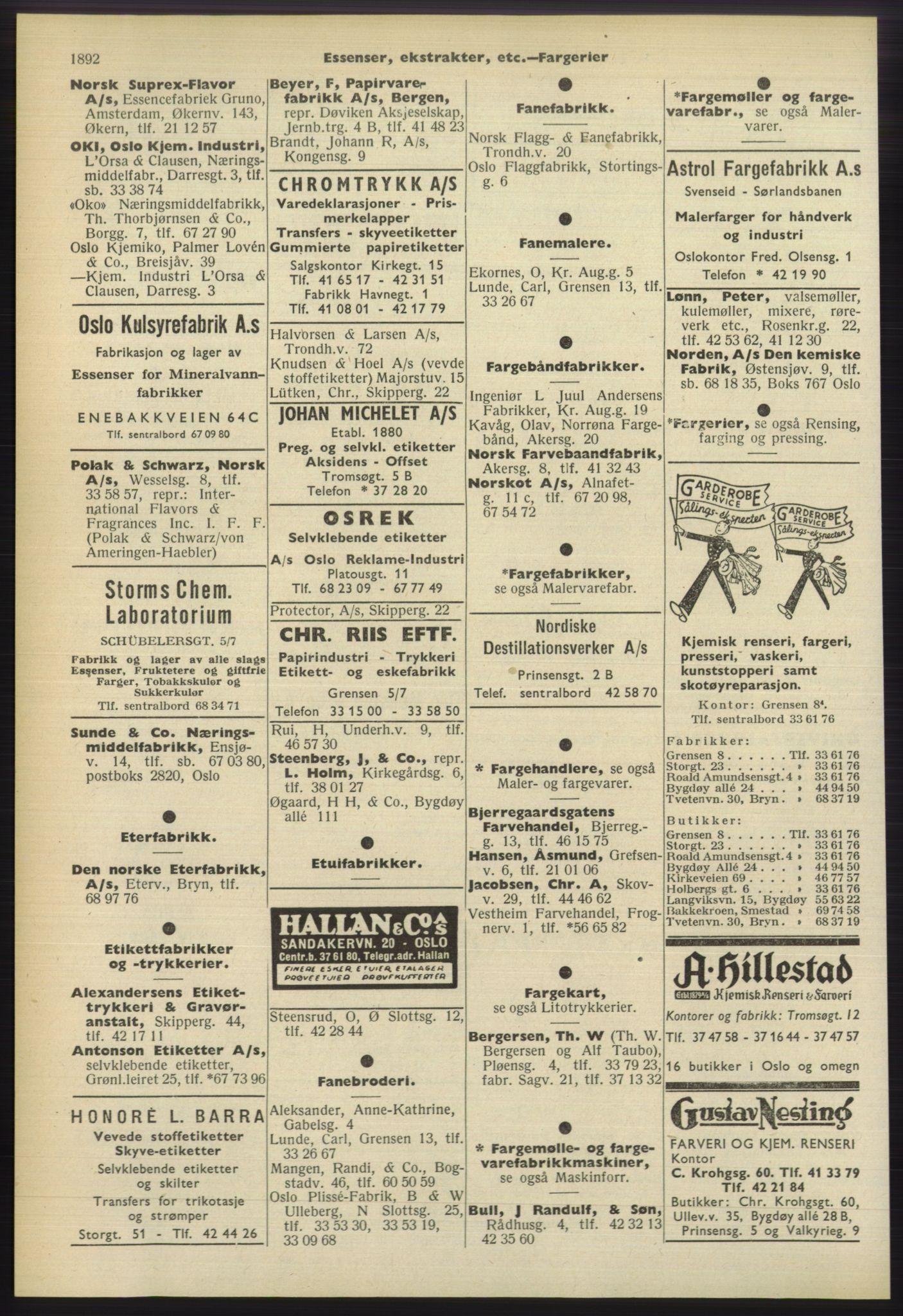 PUBL, Kristiania/Oslo adressebok, 1960-1961, s. 1892