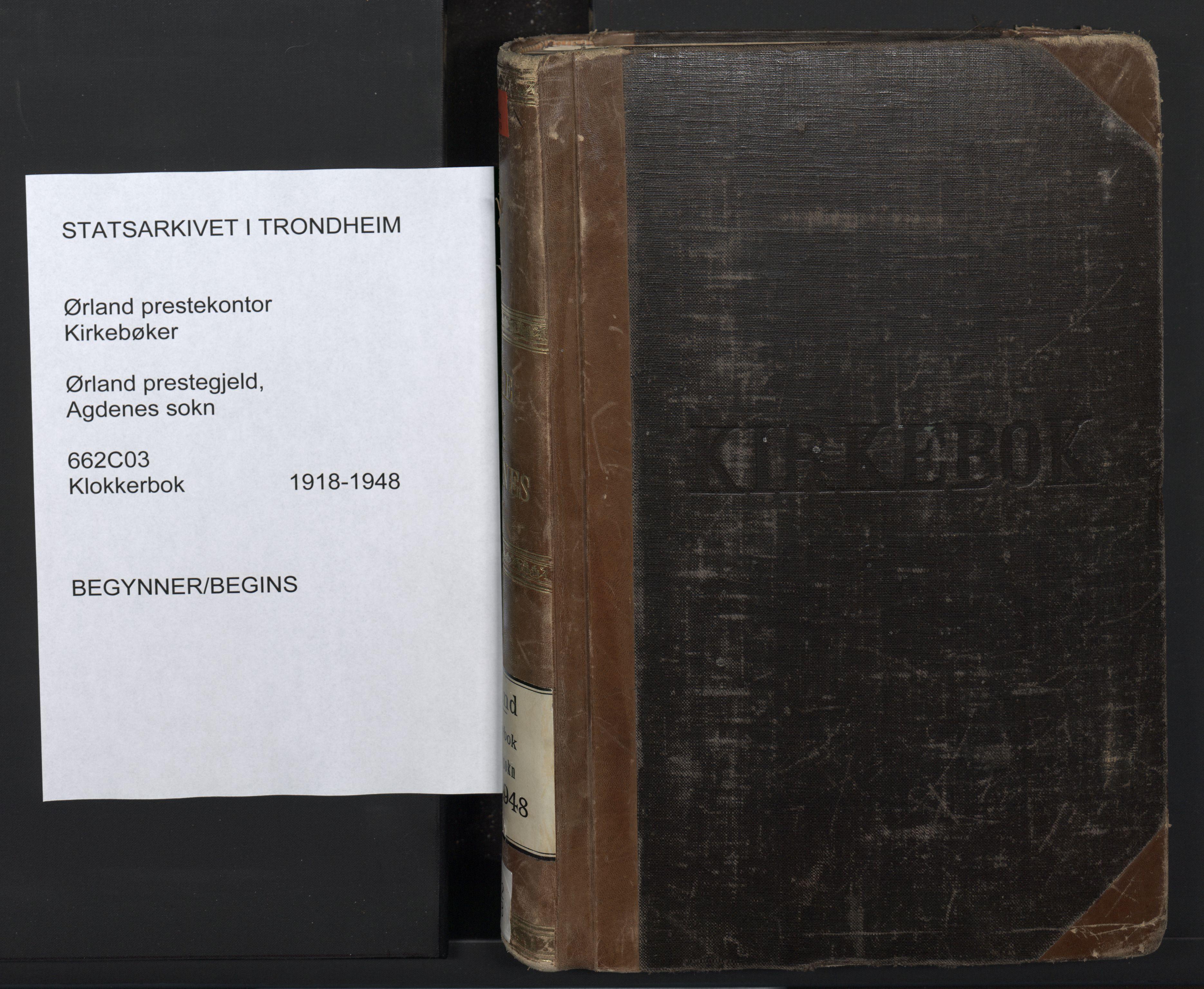 SAT, Ministerialprotokoller, klokkerbøker og fødselsregistre - Sør-Trøndelag, 662/L0758: Klokkerbok nr. 662C03, 1918-1948