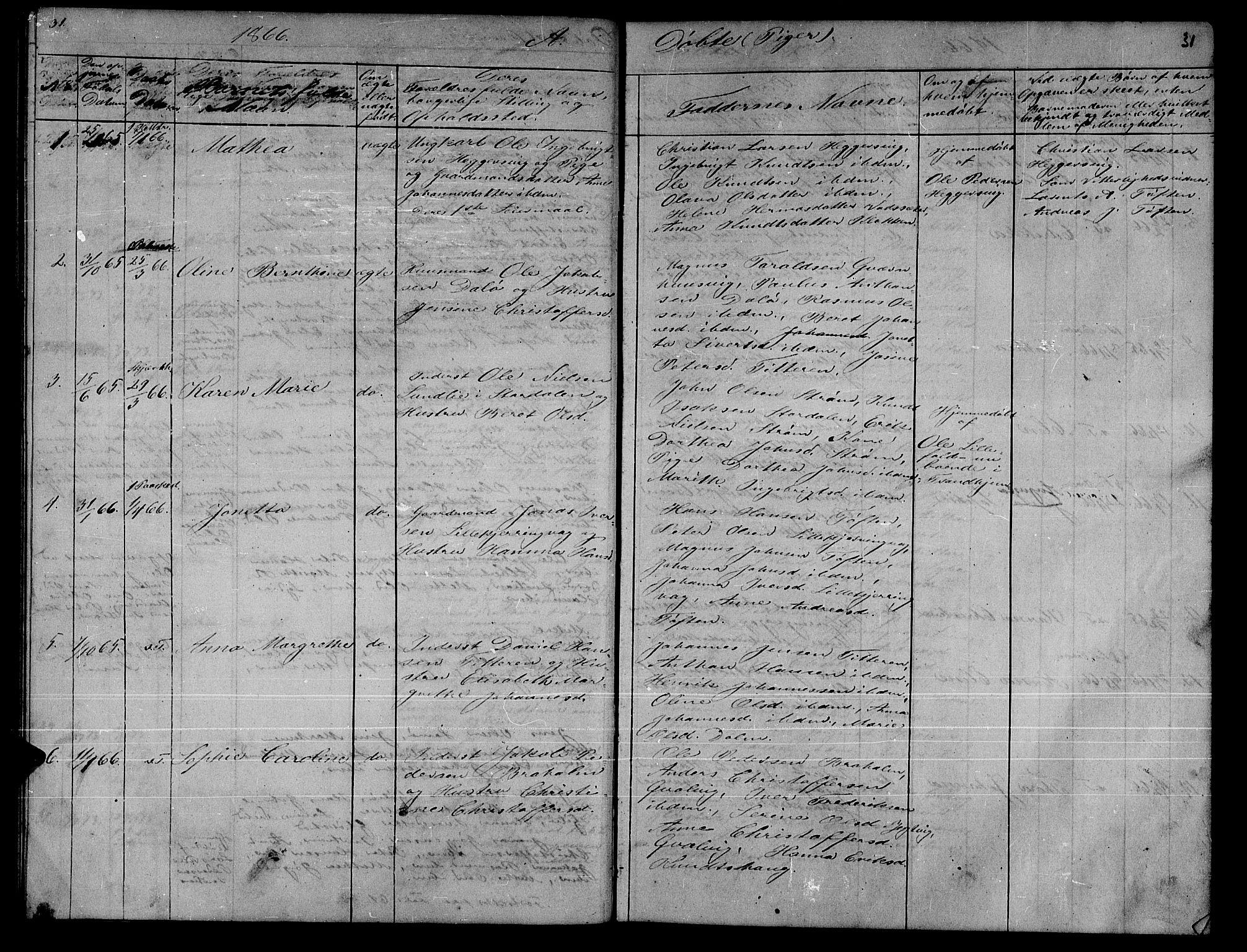 SAT, Ministerialprotokoller, klokkerbøker og fødselsregistre - Sør-Trøndelag, 634/L0539: Klokkerbok nr. 634C01, 1866-1873, s. 31