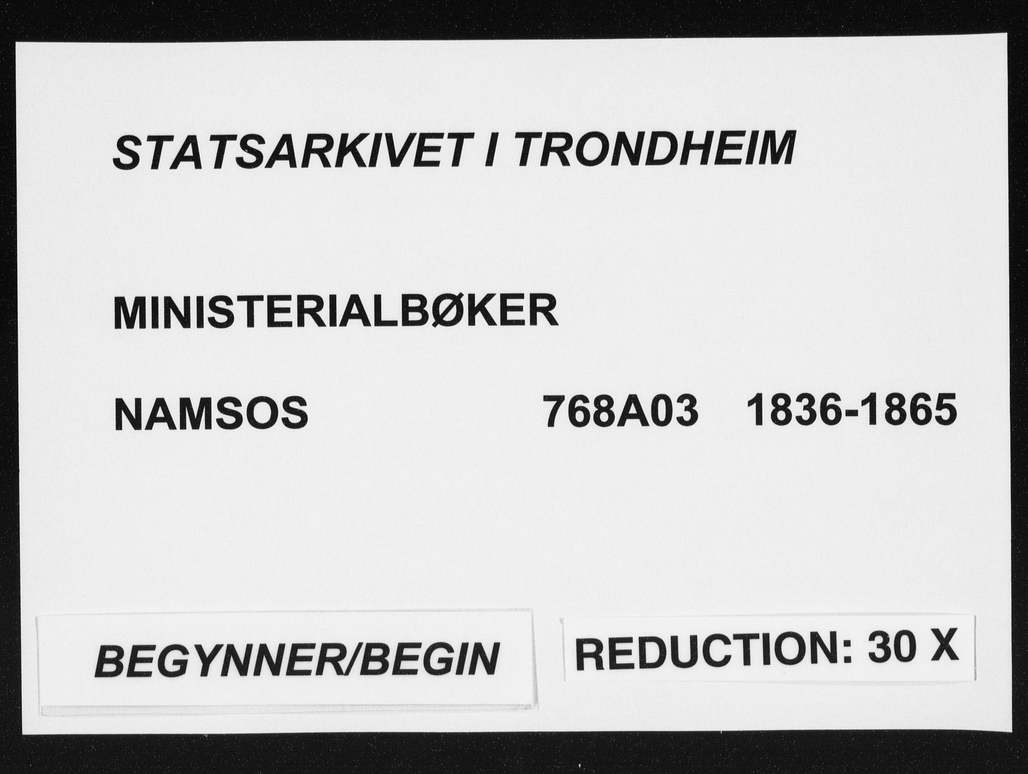 SAT, Ministerialprotokoller, klokkerbøker og fødselsregistre - Nord-Trøndelag, 768/L0568: Ministerialbok nr. 768A03, 1836-1865