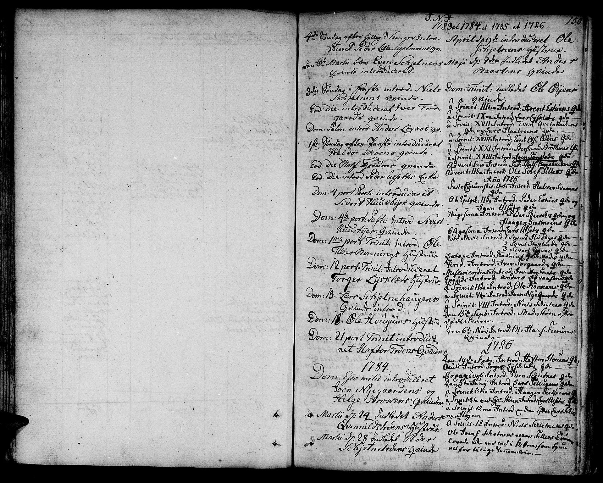 SAT, Ministerialprotokoller, klokkerbøker og fødselsregistre - Sør-Trøndelag, 618/L0438: Ministerialbok nr. 618A03, 1783-1815, s. 150
