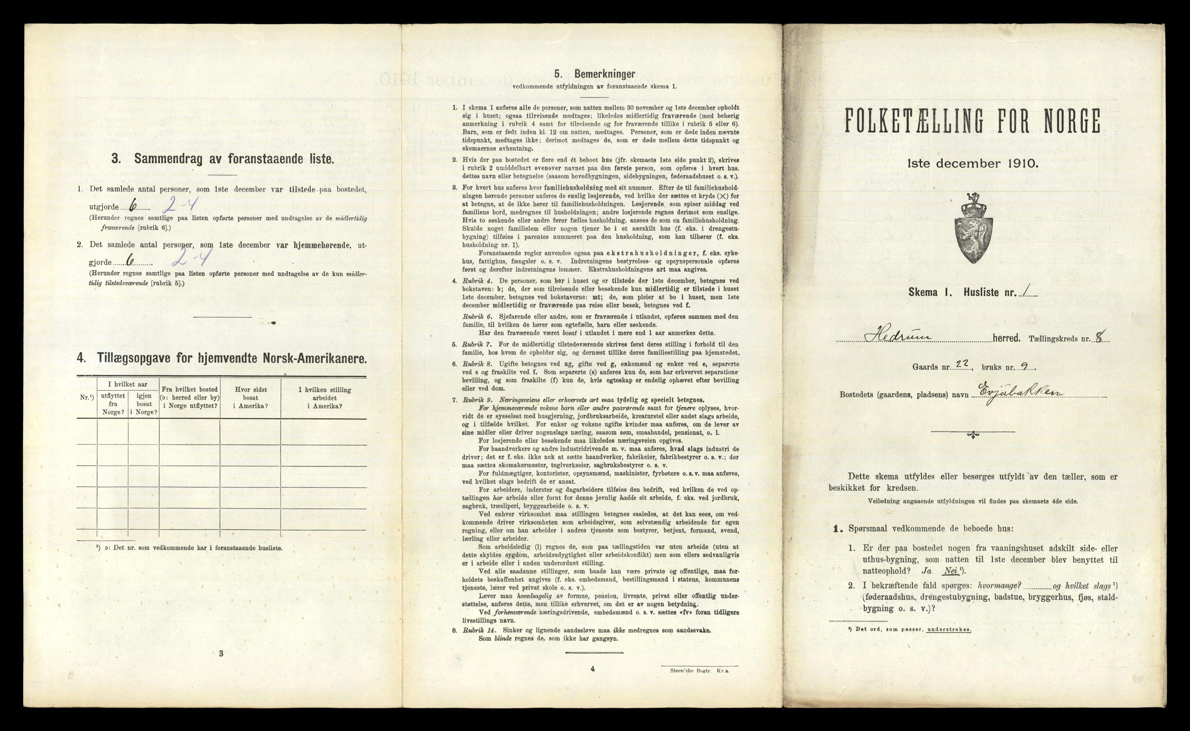 RA, Folketelling 1910 for 0727 Hedrum herred, 1910, s. 868