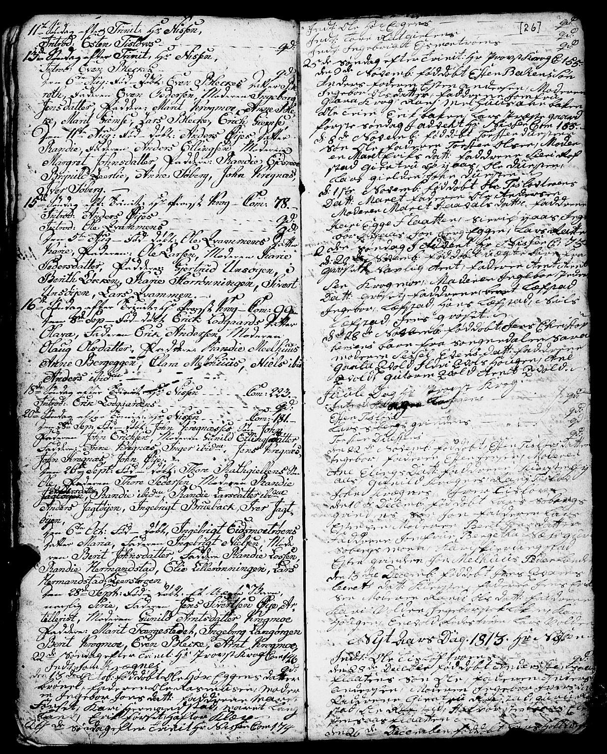 SAT, Ministerialprotokoller, klokkerbøker og fødselsregistre - Sør-Trøndelag, 691/L1091: Klokkerbok nr. 691C02, 1802-1815, s. 26