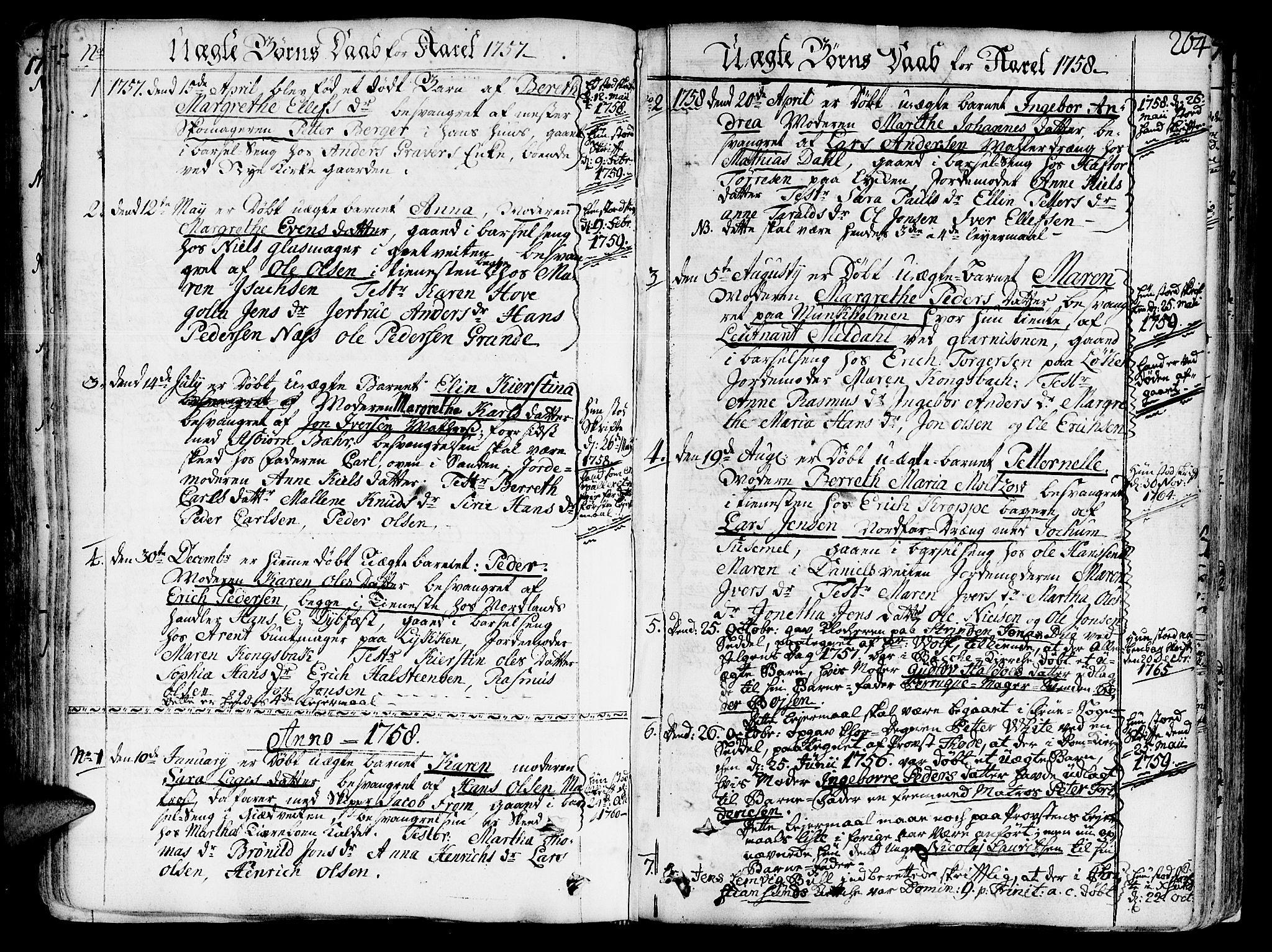 SAT, Ministerialprotokoller, klokkerbøker og fødselsregistre - Sør-Trøndelag, 602/L0103: Ministerialbok nr. 602A01, 1732-1774, s. 264