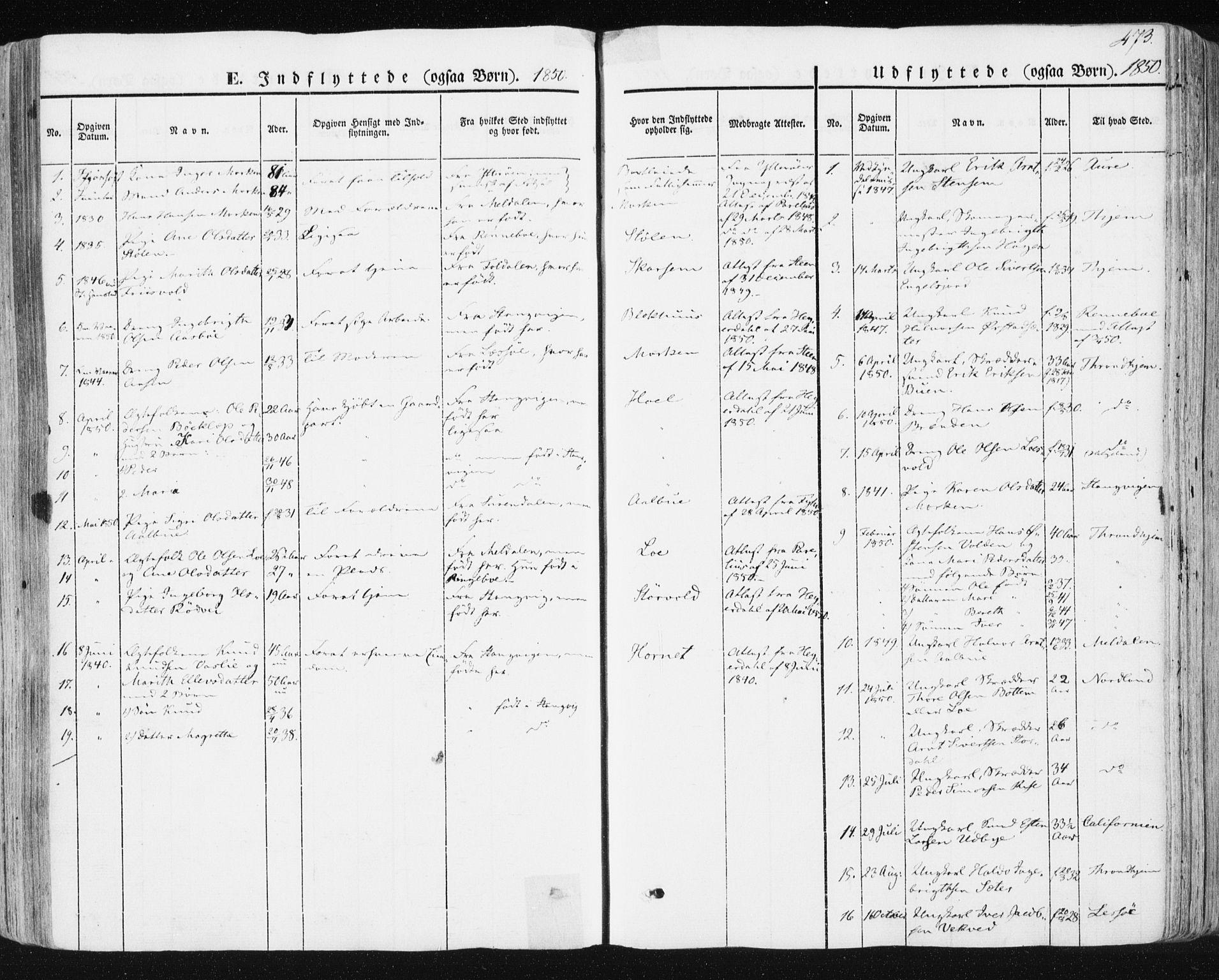 SAT, Ministerialprotokoller, klokkerbøker og fødselsregistre - Sør-Trøndelag, 678/L0899: Ministerialbok nr. 678A08, 1848-1872, s. 473