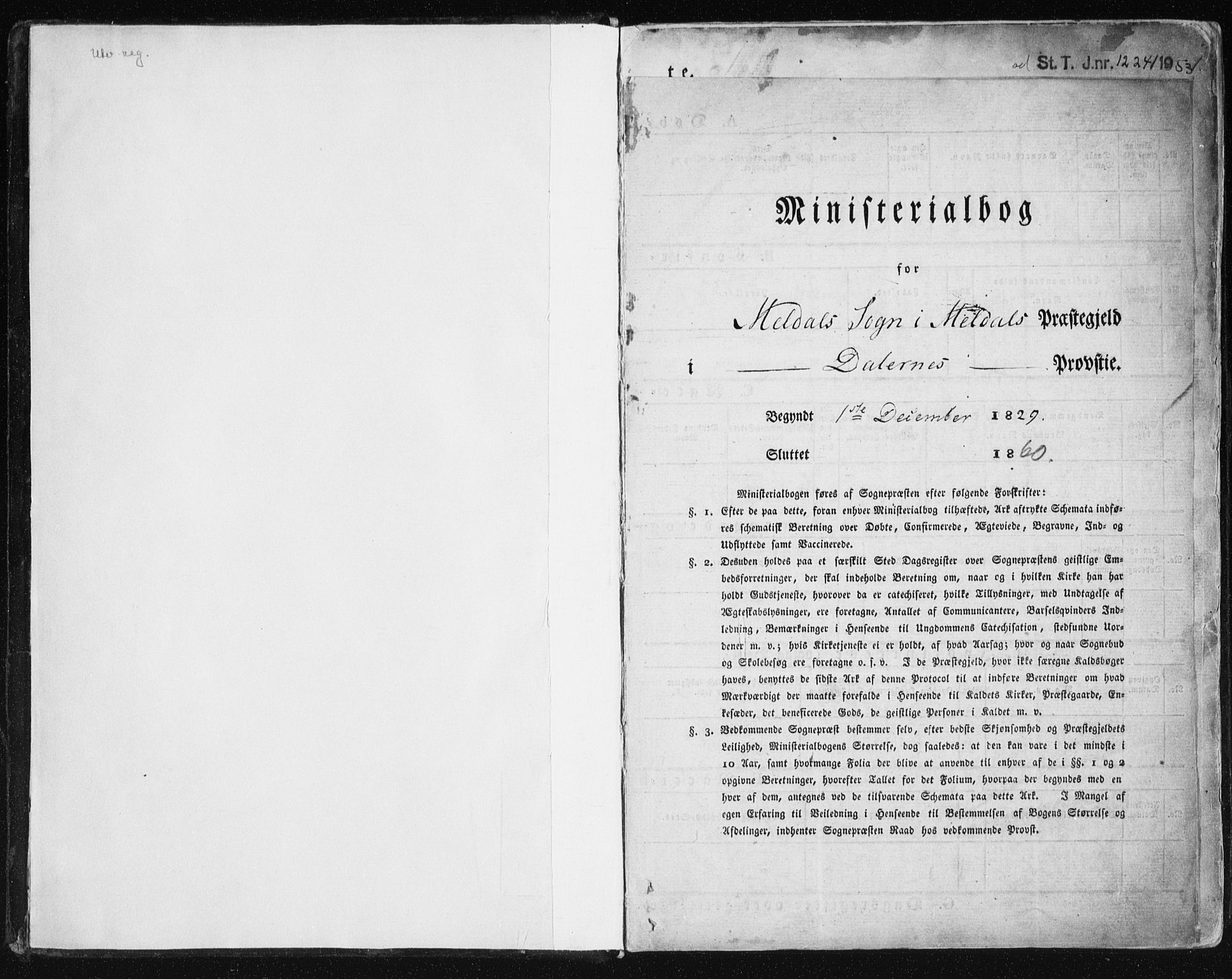 SAT, Ministerialprotokoller, klokkerbøker og fødselsregistre - Sør-Trøndelag, 672/L0855: Ministerialbok nr. 672A07, 1829-1860