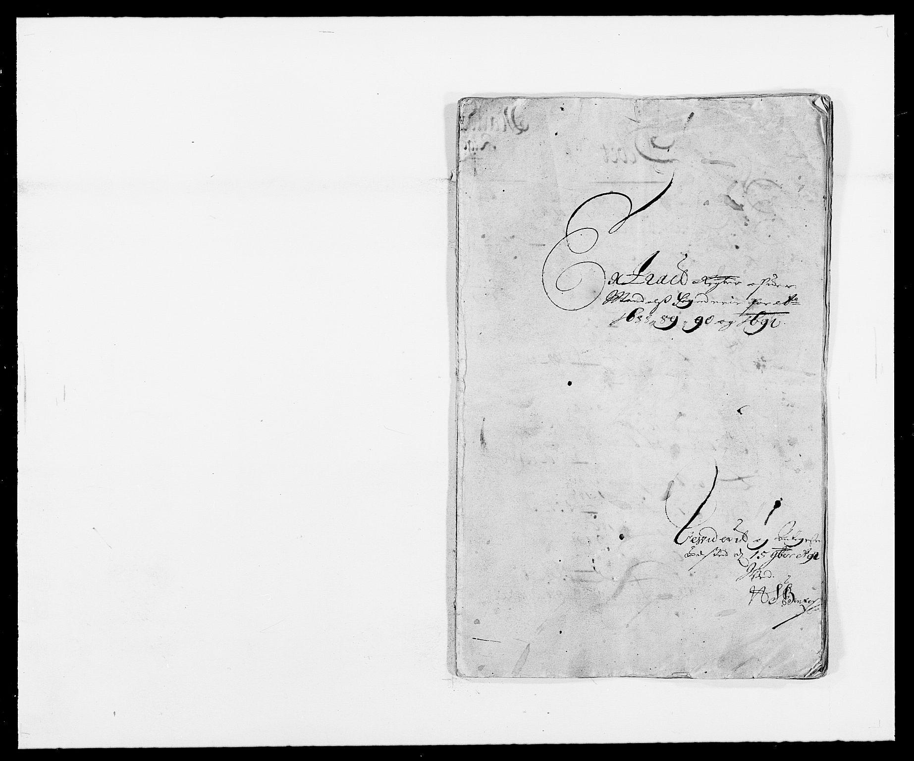 RA, Rentekammeret inntil 1814, Reviderte regnskaper, Fogderegnskap, R42/L2543: Mandal fogderi, 1688-1691, s. 1