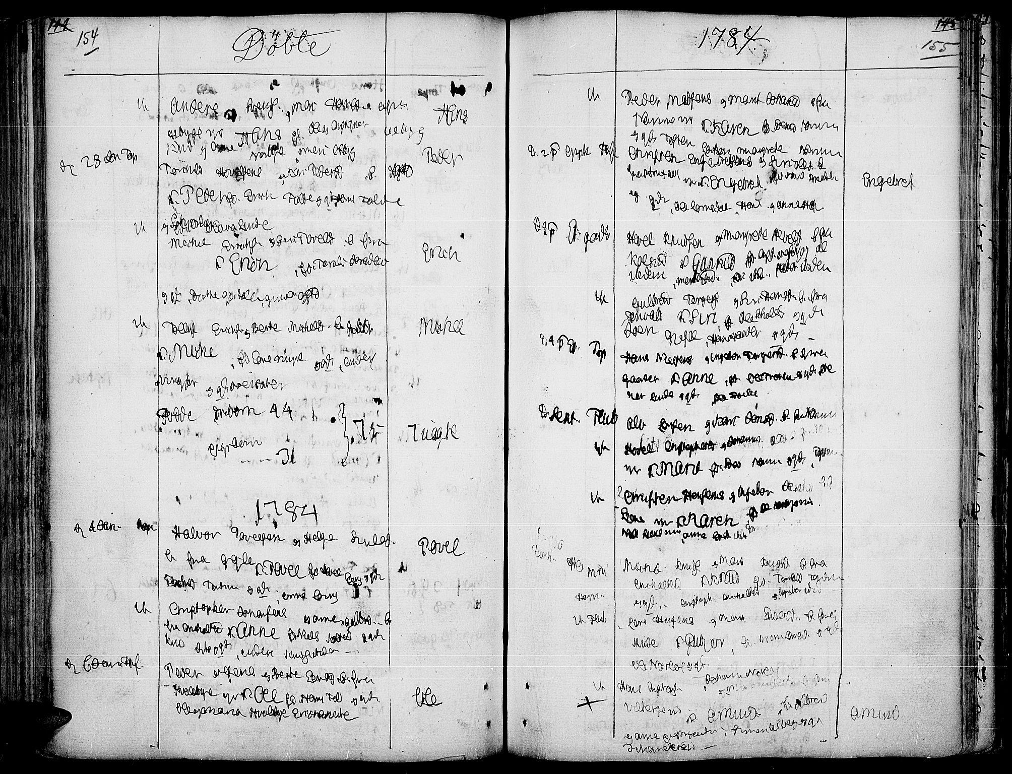 SAH, Land prestekontor, Ministerialbok nr. 5, 1765-1784, s. 154-155