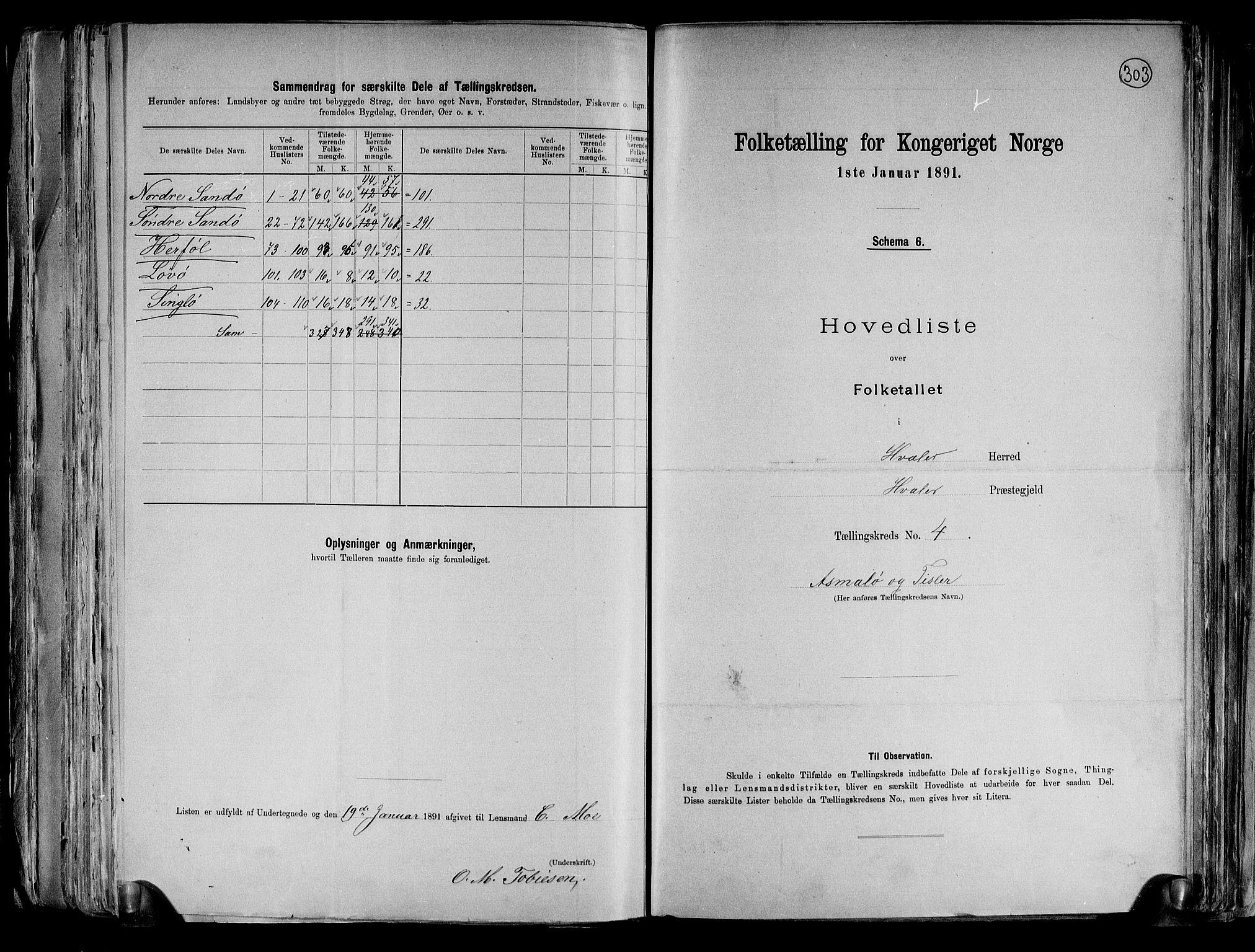 RA, Folketelling 1891 for 0111 Hvaler herred, 1891, s. 16