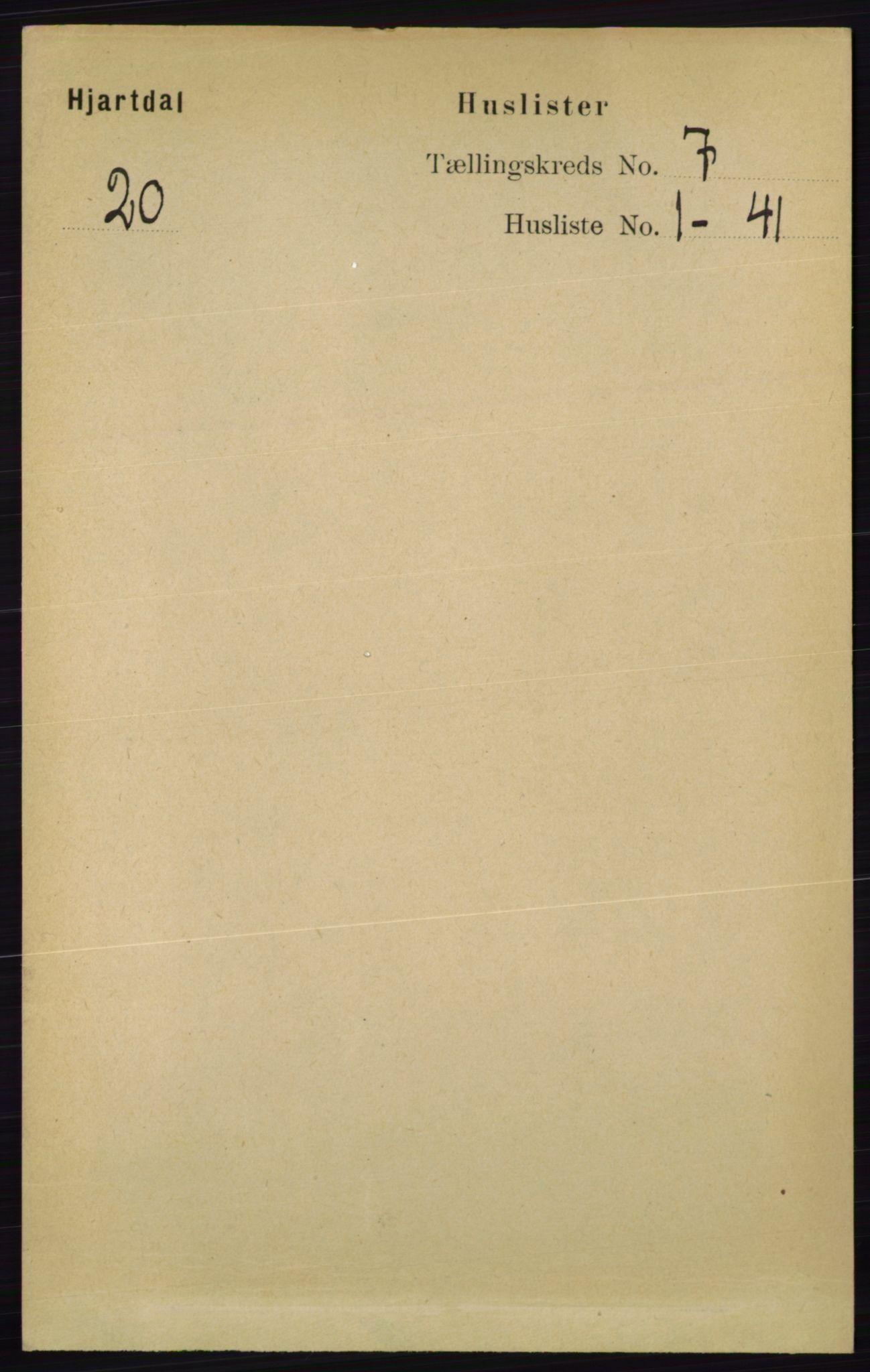 RA, Folketelling 1891 for 0827 Hjartdal herred, 1891, s. 2495