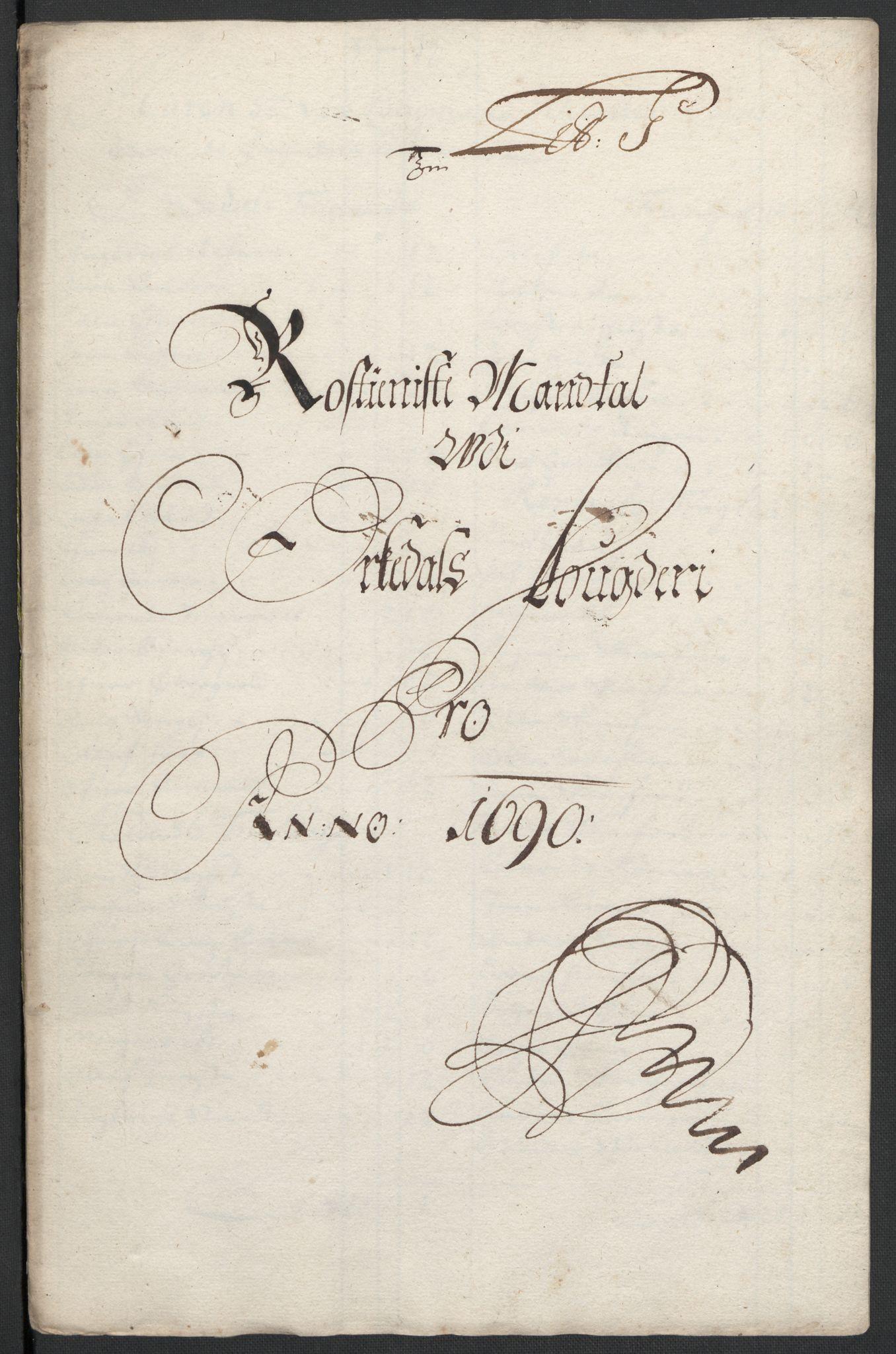 RA, Rentekammeret inntil 1814, Reviderte regnskaper, Fogderegnskap, R58/L3936: Fogderegnskap Orkdal, 1689-1690, s. 371
