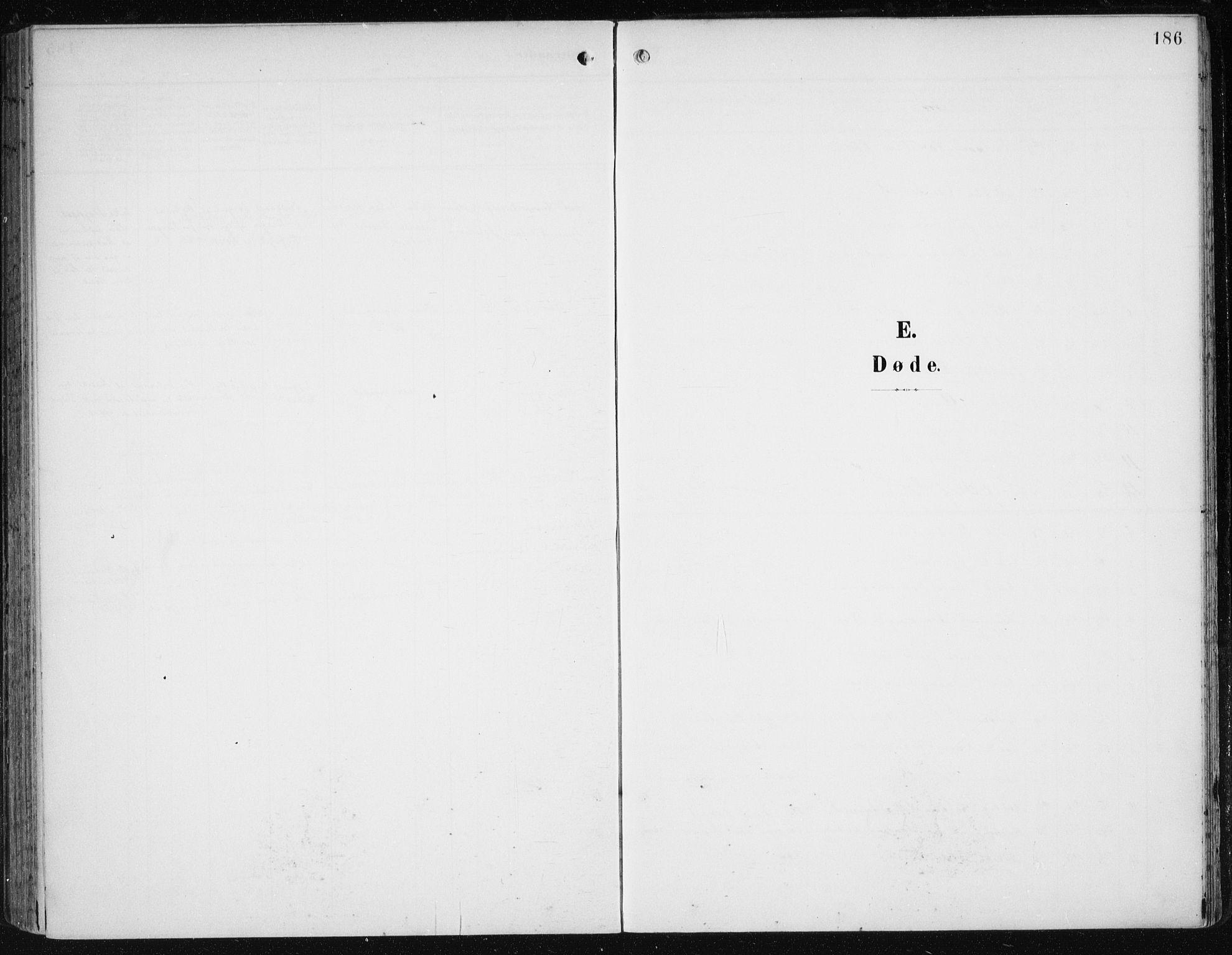 SAB, Fana Sokneprestembete, H/Haa/Haai/L0003: Ministerialbok nr. I 3, 1900-1912, s. 186