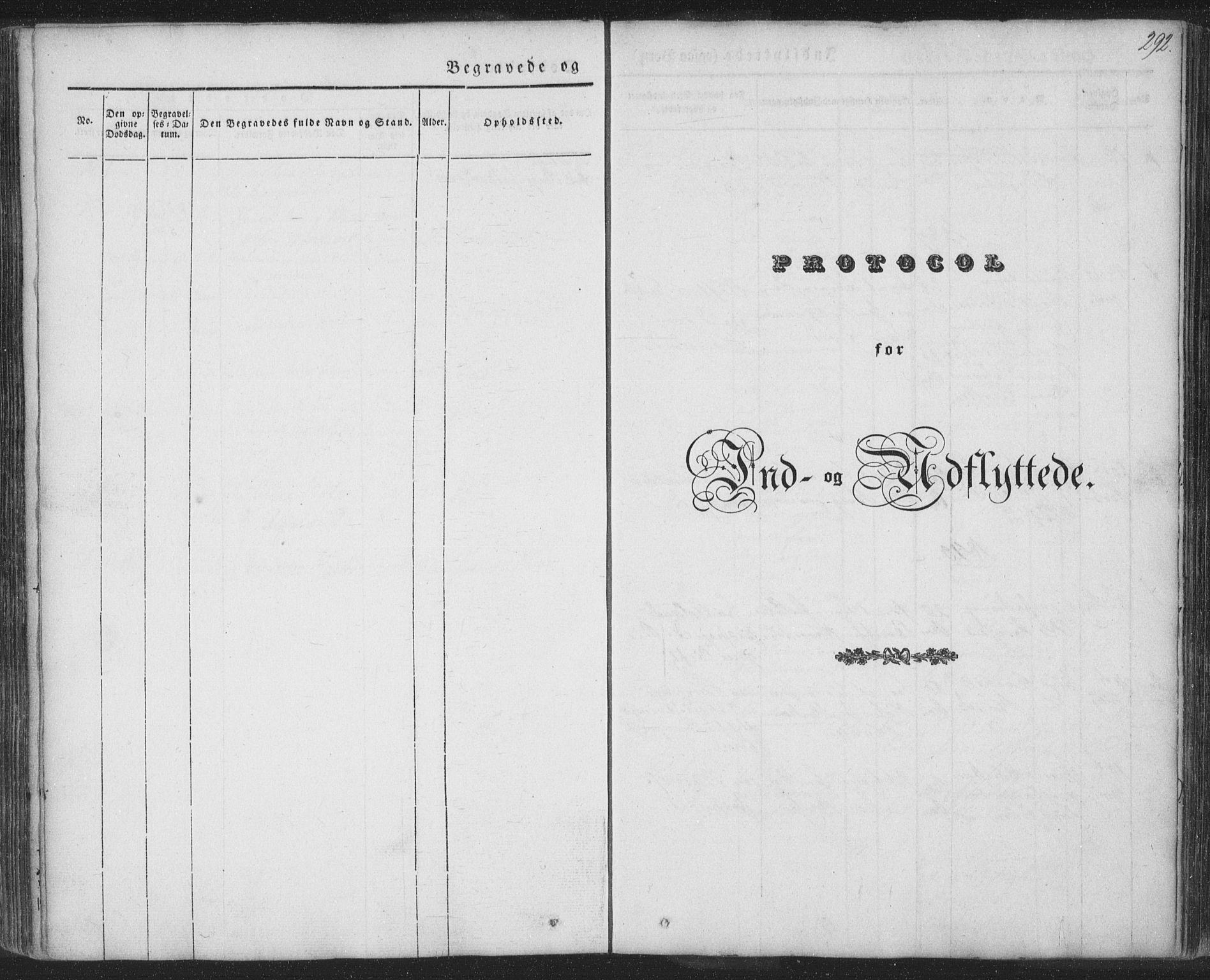 SAT, Ministerialprotokoller, klokkerbøker og fødselsregistre - Nordland, 885/L1202: Ministerialbok nr. 885A03, 1838-1859, s. 292
