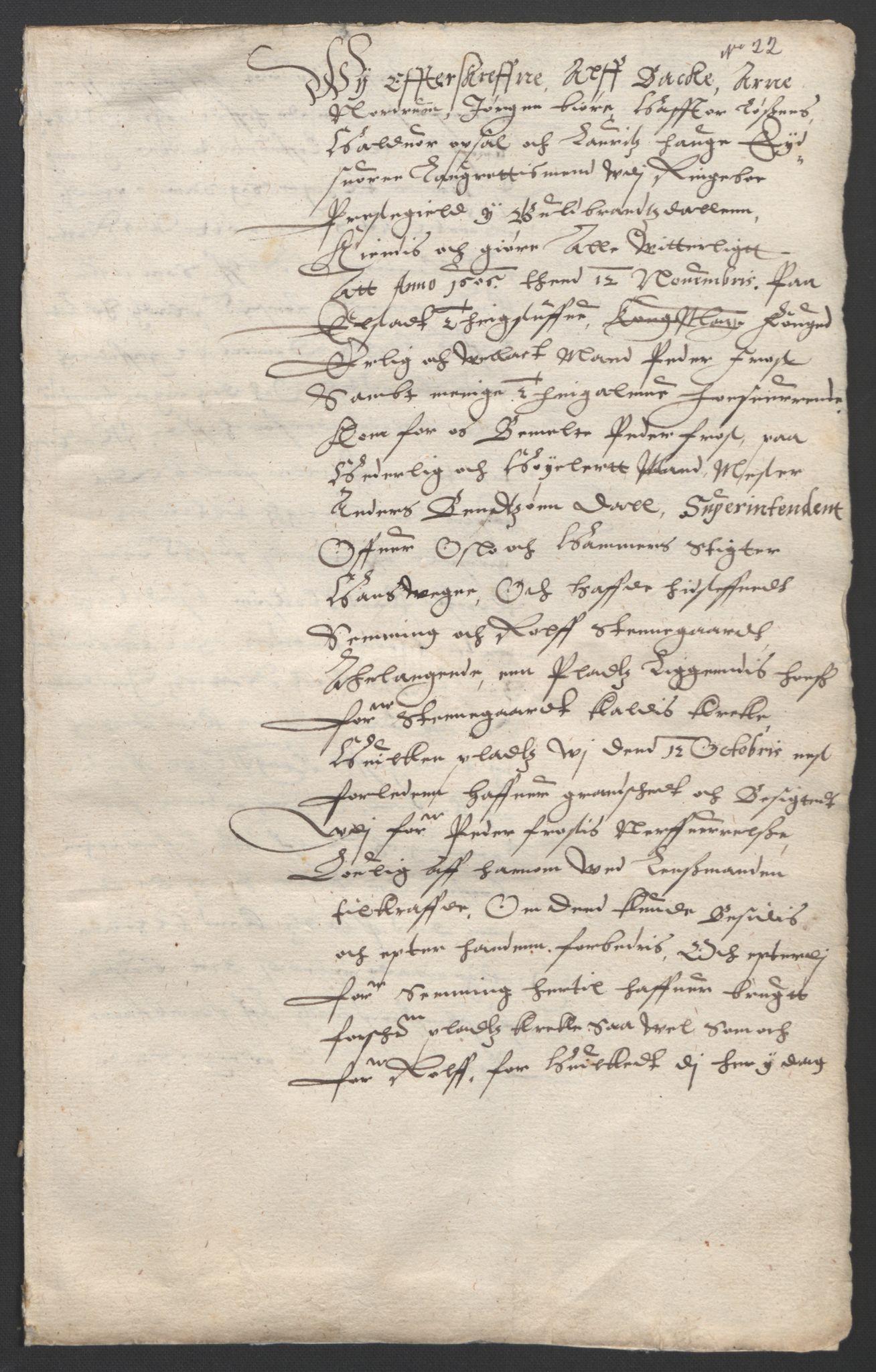 SAO, Oslo stiftsdireksjon, G/Gb/L0001: Bispestolens dokumenter, 1584-1612, s. 22