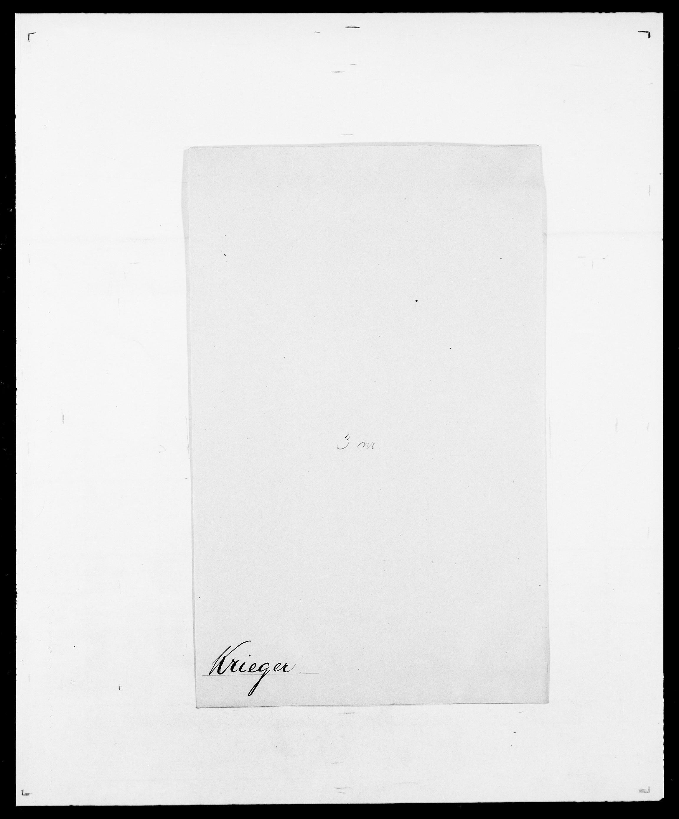 SAO, Delgobe, Charles Antoine - samling, D/Da/L0021: Klagenberg - Kristoft, s. 795