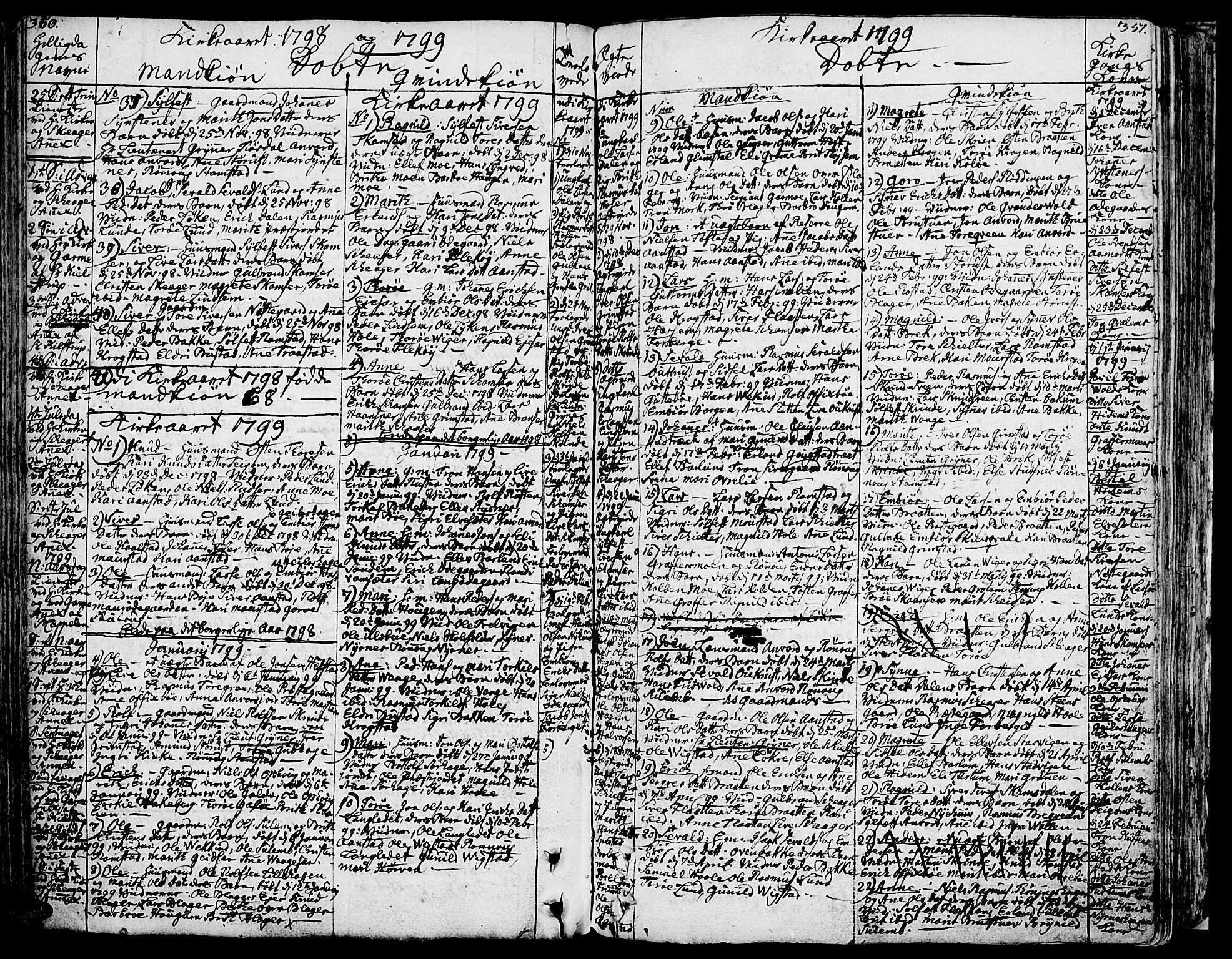 SAH, Lom prestekontor, K/L0002: Ministerialbok nr. 2, 1749-1801, s. 350-351