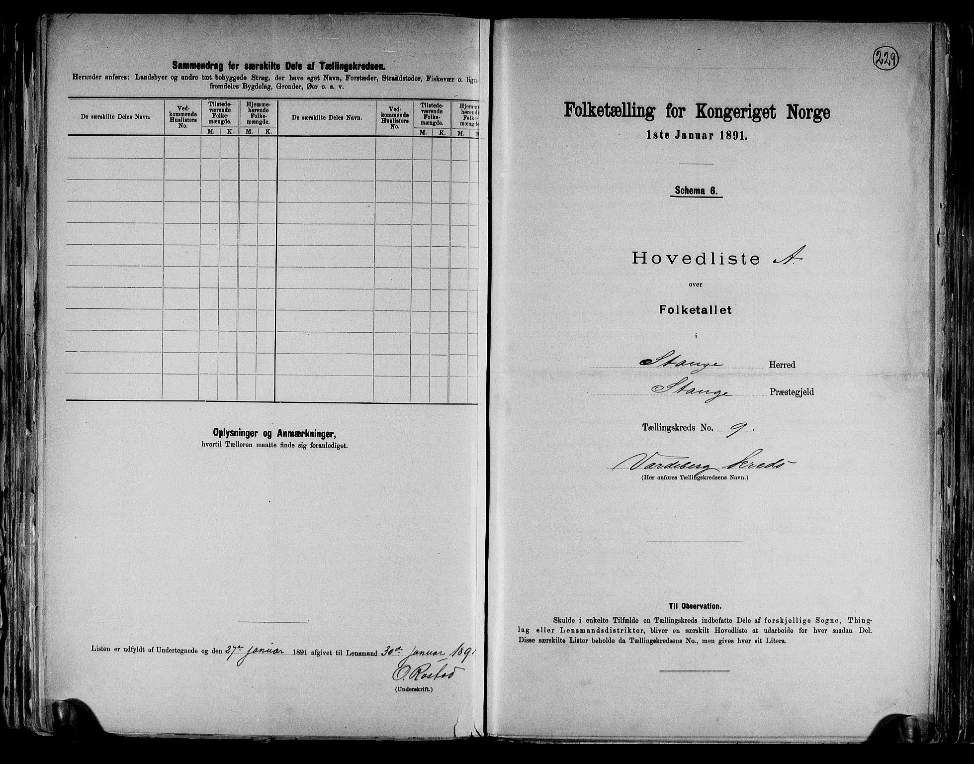 RA, Folketelling 1891 for 0417 Stange herred, 1891, s. 30