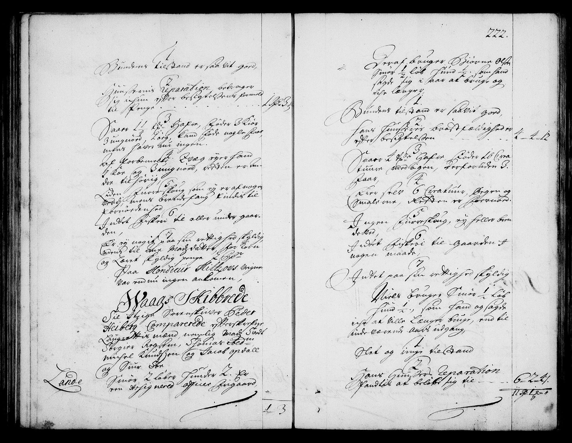 RA, Rentekammeret inntil 1814, Realistisk ordnet avdeling, On/L0003: [Jj 4]: Kommisjonsforretning over Vilhelm Hanssøns forpaktning av Halsnøy klosters gods, 1712-1722, s. 221b-222a