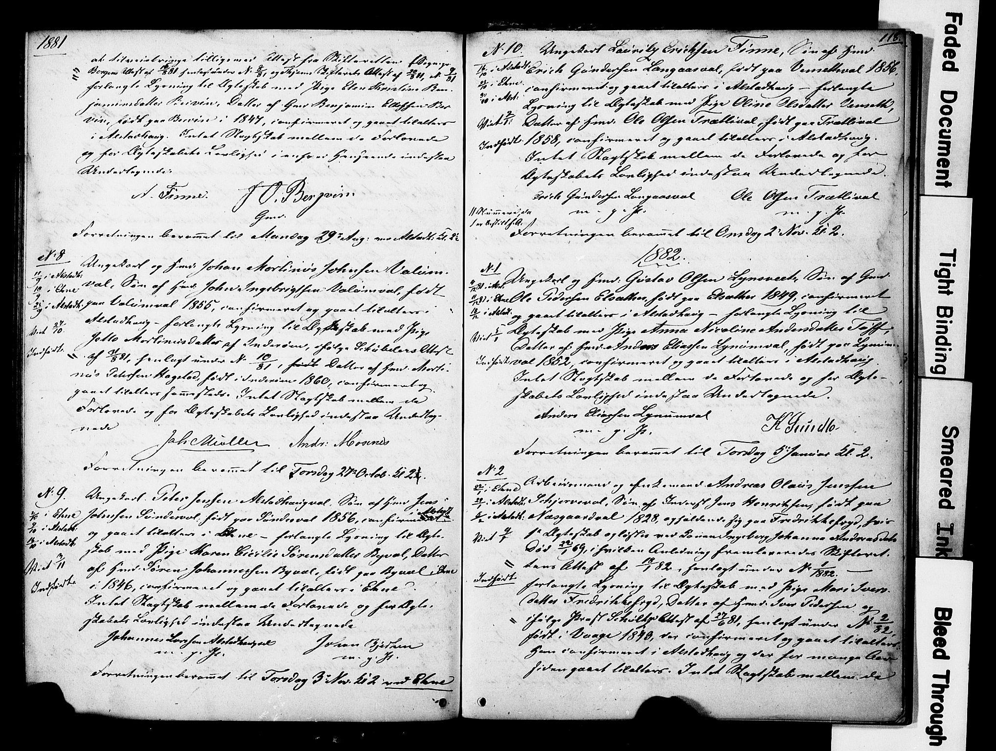 SAT, Ministerialprotokoller, klokkerbøker og fødselsregistre - Nord-Trøndelag, 717/L0161: Forlovererklæringer nr. 717A11, 1850-1895, s. 118
