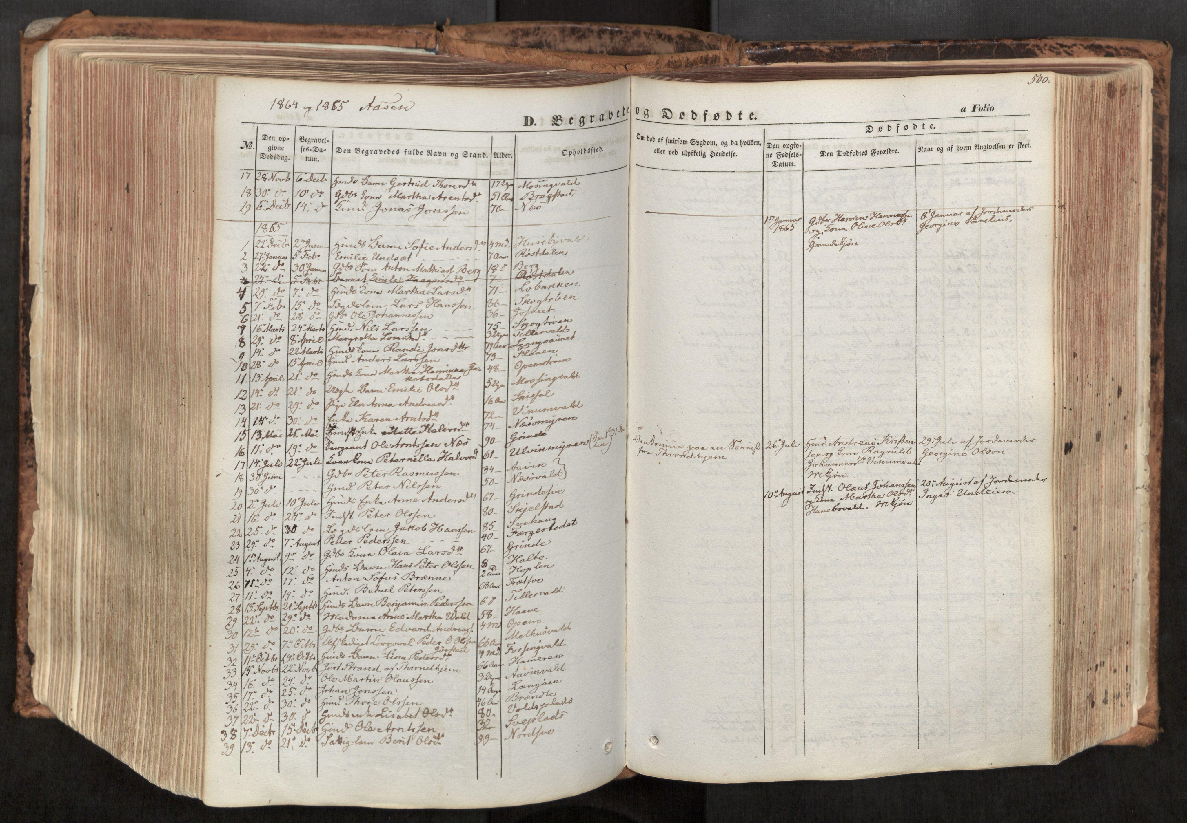 SAT, Ministerialprotokoller, klokkerbøker og fødselsregistre - Nord-Trøndelag, 713/L0116: Ministerialbok nr. 713A07, 1850-1877, s. 500