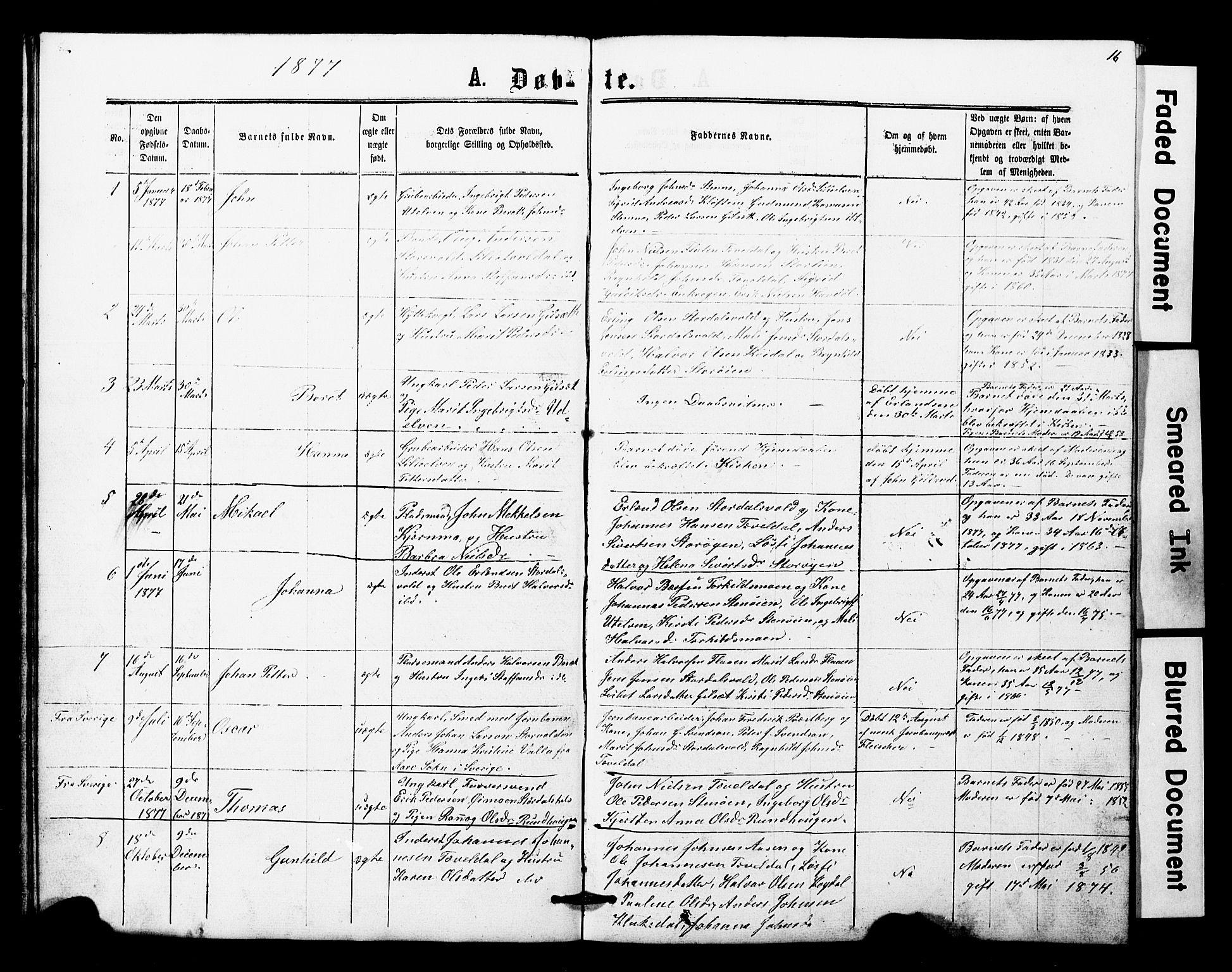 SAT, Ministerialprotokoller, klokkerbøker og fødselsregistre - Nord-Trøndelag, 707/L0052: Klokkerbok nr. 707C01, 1864-1897, s. 16