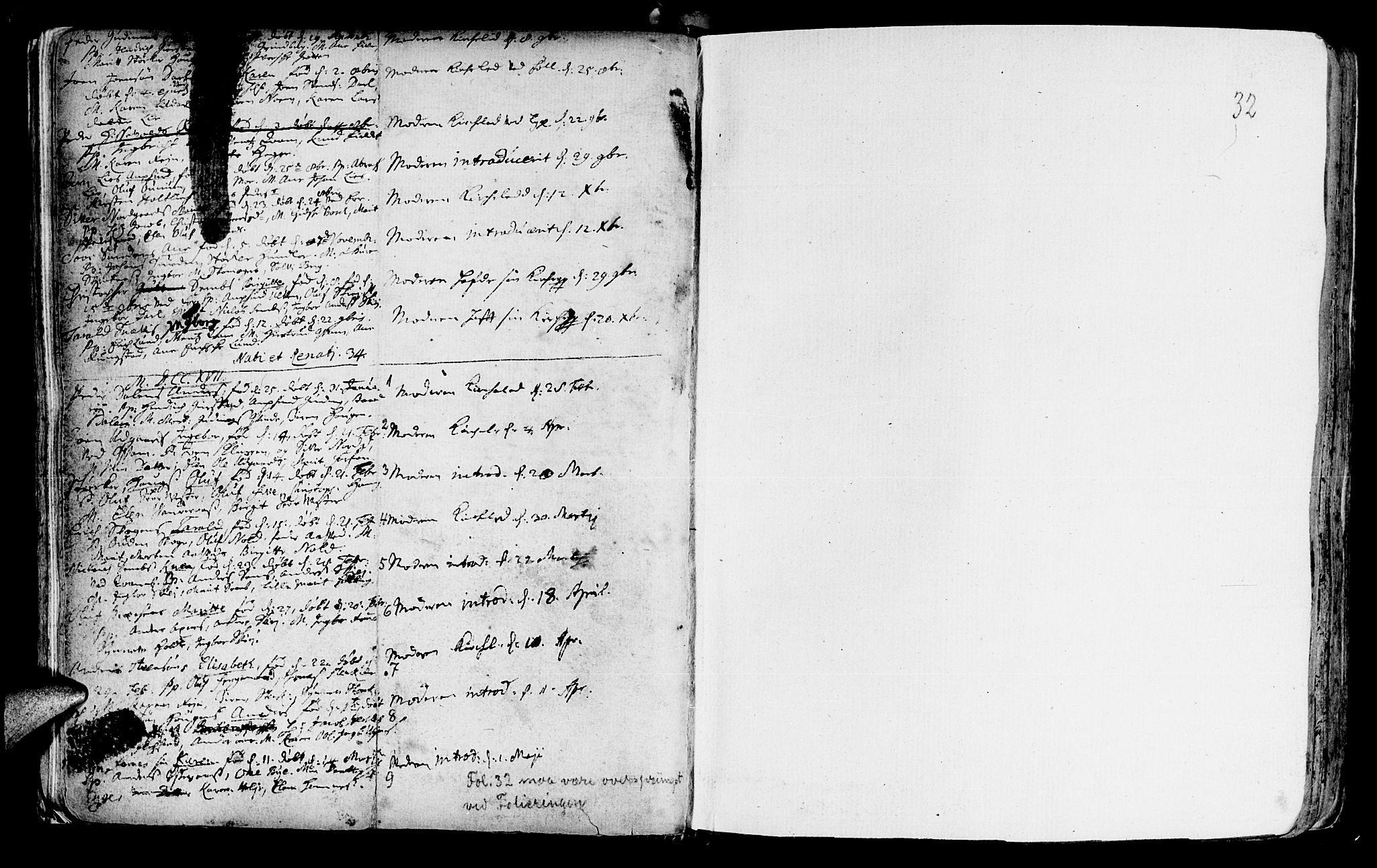 SAT, Ministerialprotokoller, klokkerbøker og fødselsregistre - Nord-Trøndelag, 746/L0439: Ministerialbok nr. 746A01, 1688-1759, s. 32
