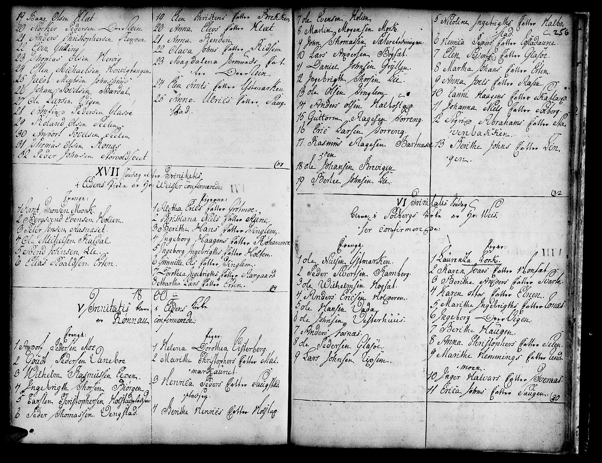 SAT, Ministerialprotokoller, klokkerbøker og fødselsregistre - Nord-Trøndelag, 741/L0385: Ministerialbok nr. 741A01, 1722-1815, s. 256