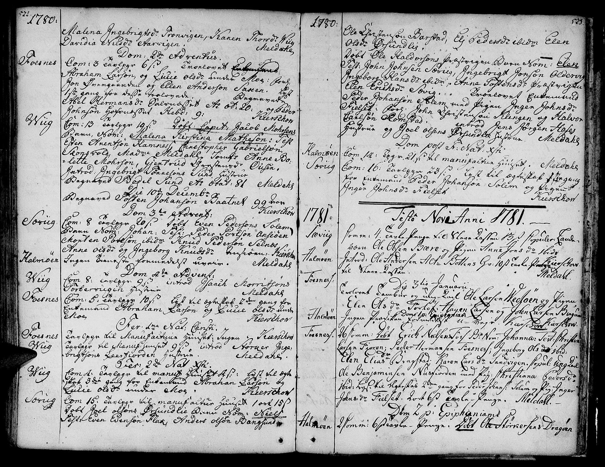 SAT, Ministerialprotokoller, klokkerbøker og fødselsregistre - Nord-Trøndelag, 773/L0607: Ministerialbok nr. 773A01, 1751-1783, s. 522-523