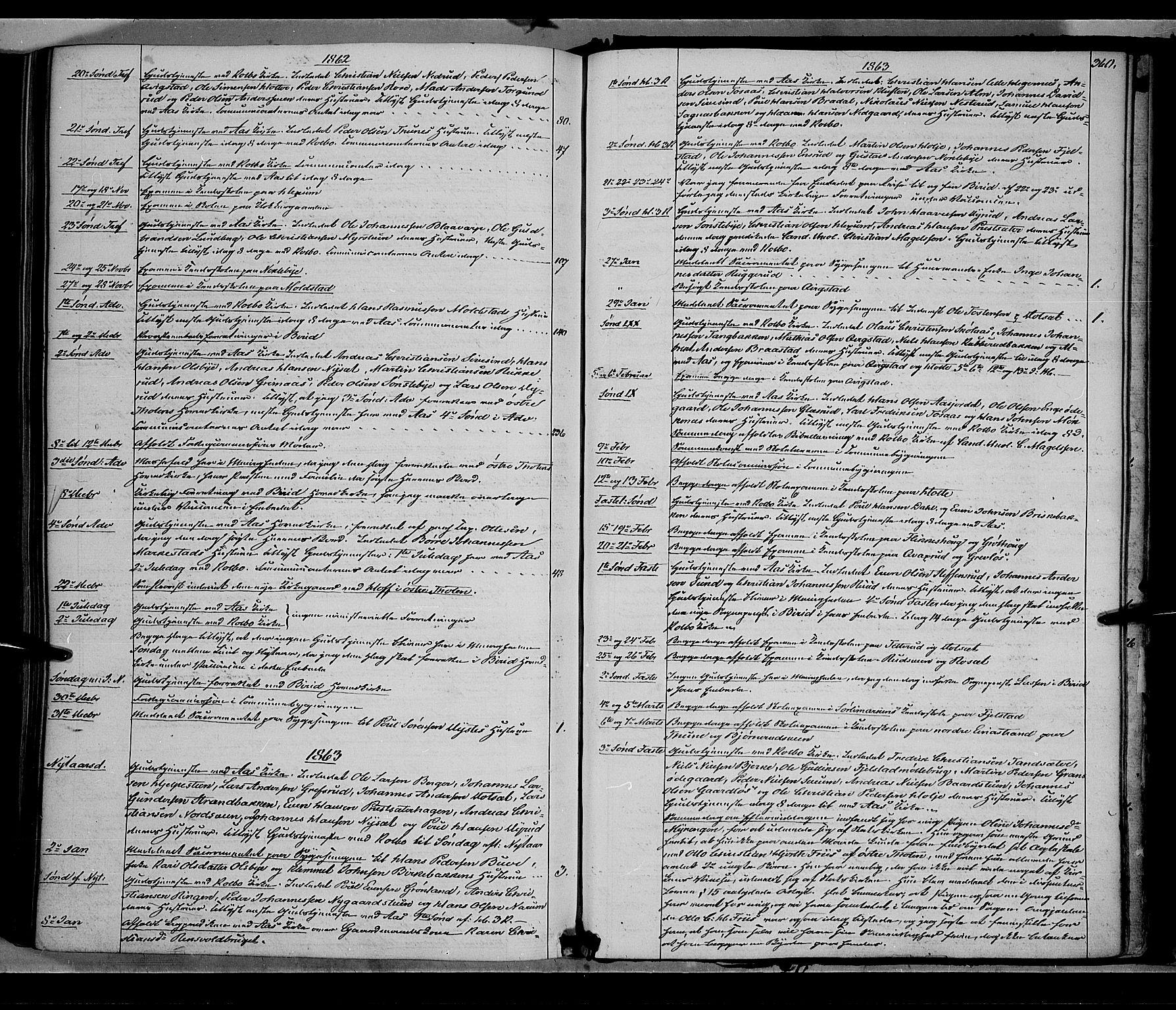 SAH, Vestre Toten prestekontor, H/Ha/Haa/L0007: Ministerialbok nr. 7, 1862-1869, s. 360