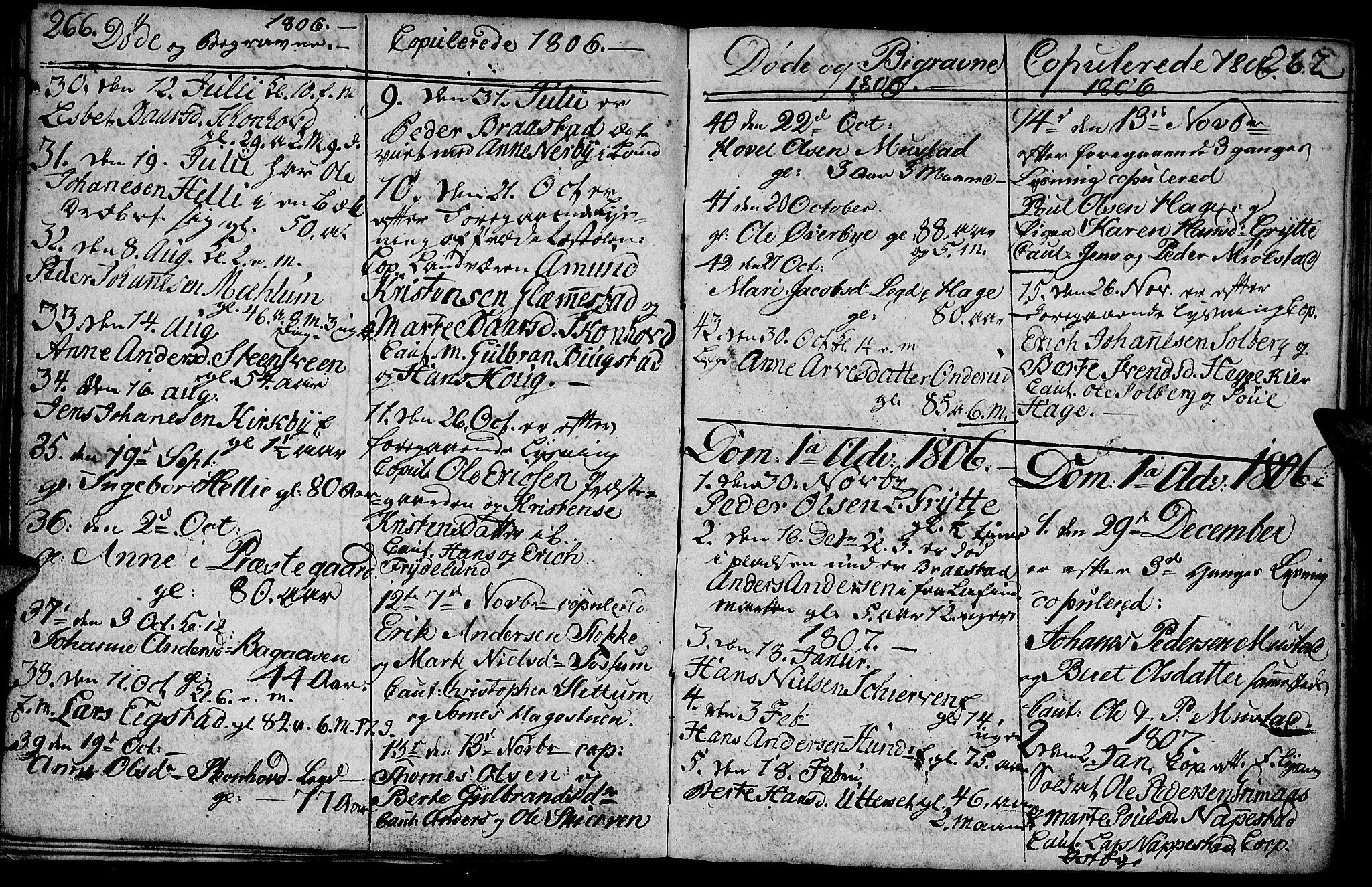 SAH, Vardal prestekontor, H/Ha/Hab/L0003: Klokkerbok nr. 3, 1803-1808, s. 266-267