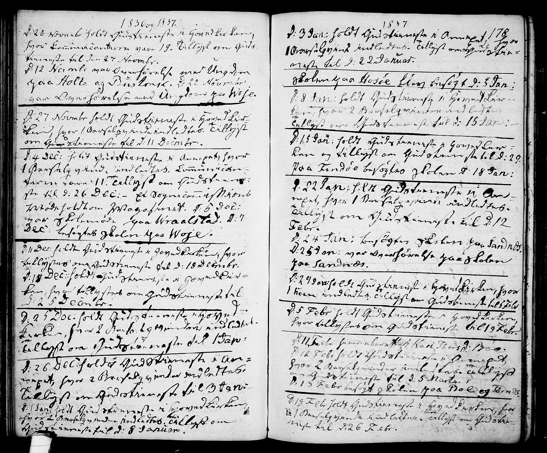 SAKO, Drangedal kirkebøker, F/Fa/L0006: Ministerialbok nr. 6, 1831-1837, s. 178