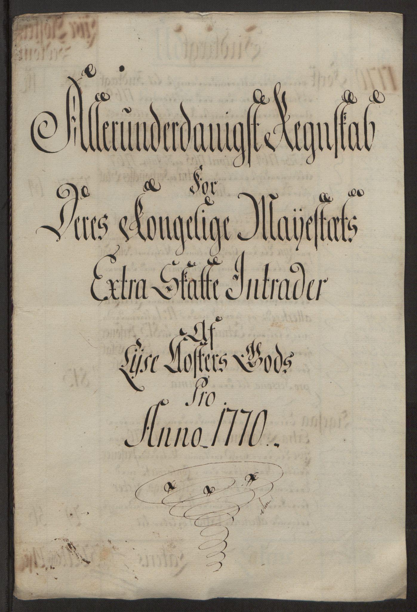 RA, Rentekammeret inntil 1814, Reviderte regnskaper, Fogderegnskap, R50/L3180: Ekstraskatten Lyse kloster, 1762-1783, s. 230