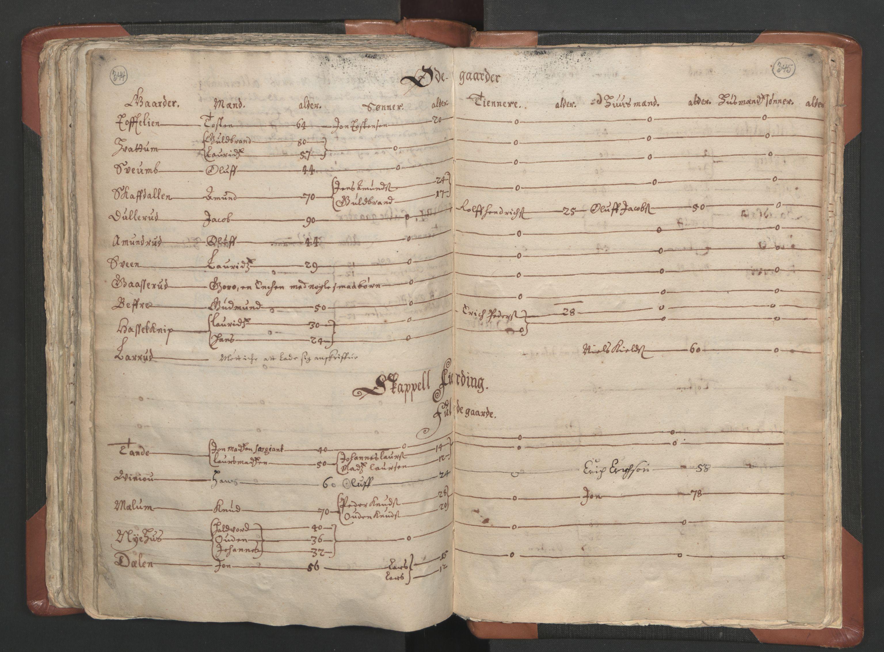 RA, Sogneprestenes manntall 1664-1666, nr. 5: Hedmark prosti, 1664-1666, s. 344-345