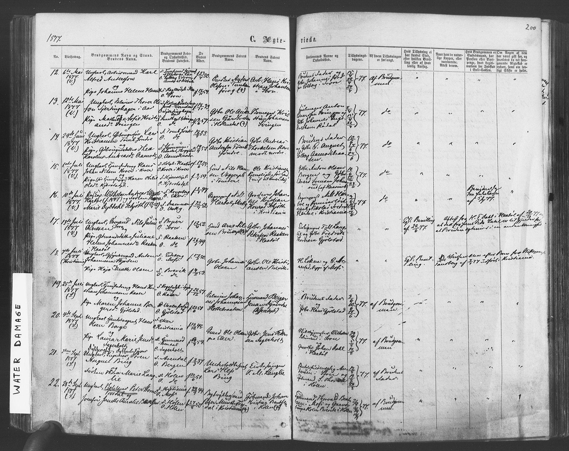 SAO, Vestby prestekontor Kirkebøker, F/Fa/L0008: Ministerialbok nr. I 8, 1863-1877, s. 200