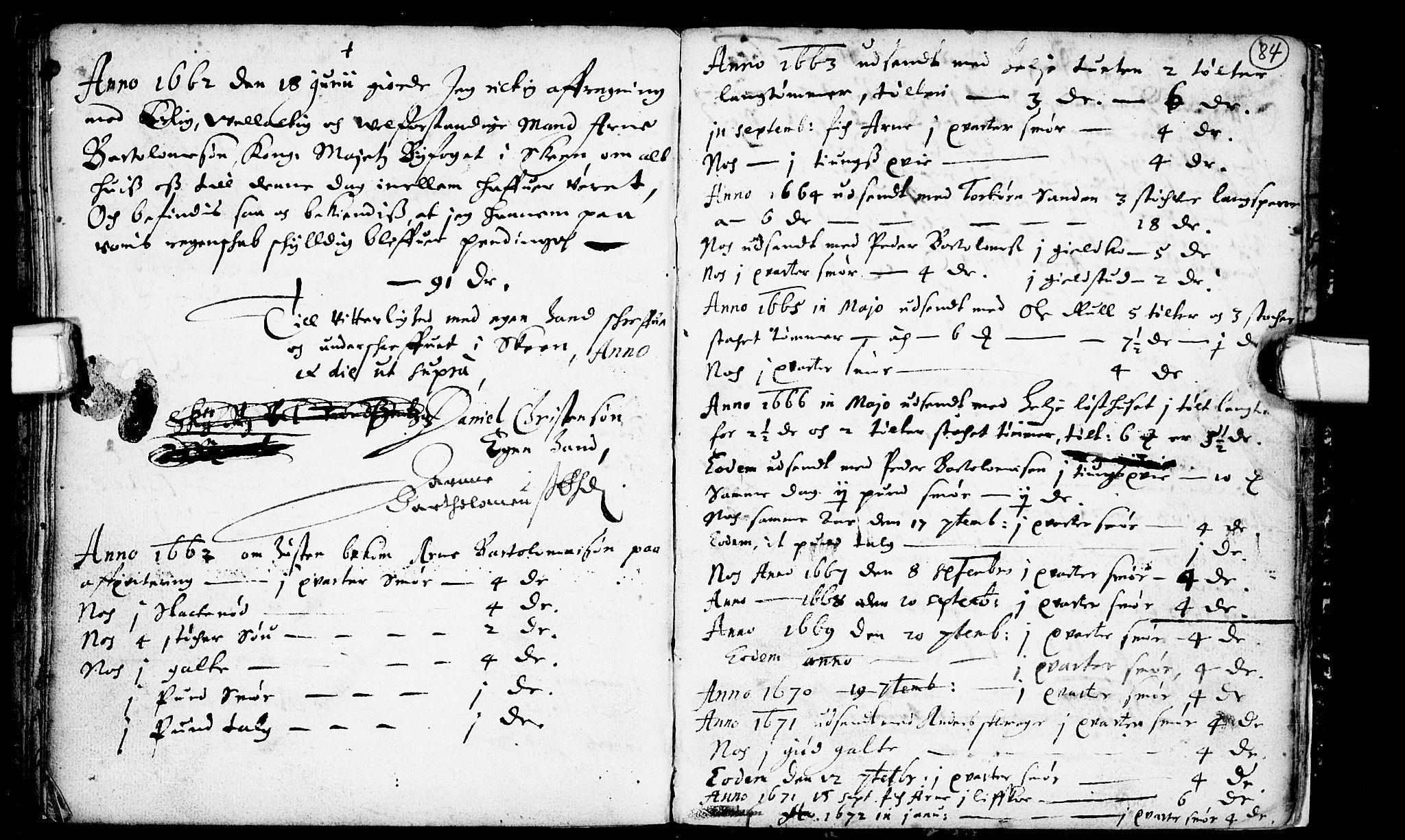 SAKO, Heddal kirkebøker, F/Fa/L0001: Ministerialbok nr. I 1, 1648-1699, s. 84