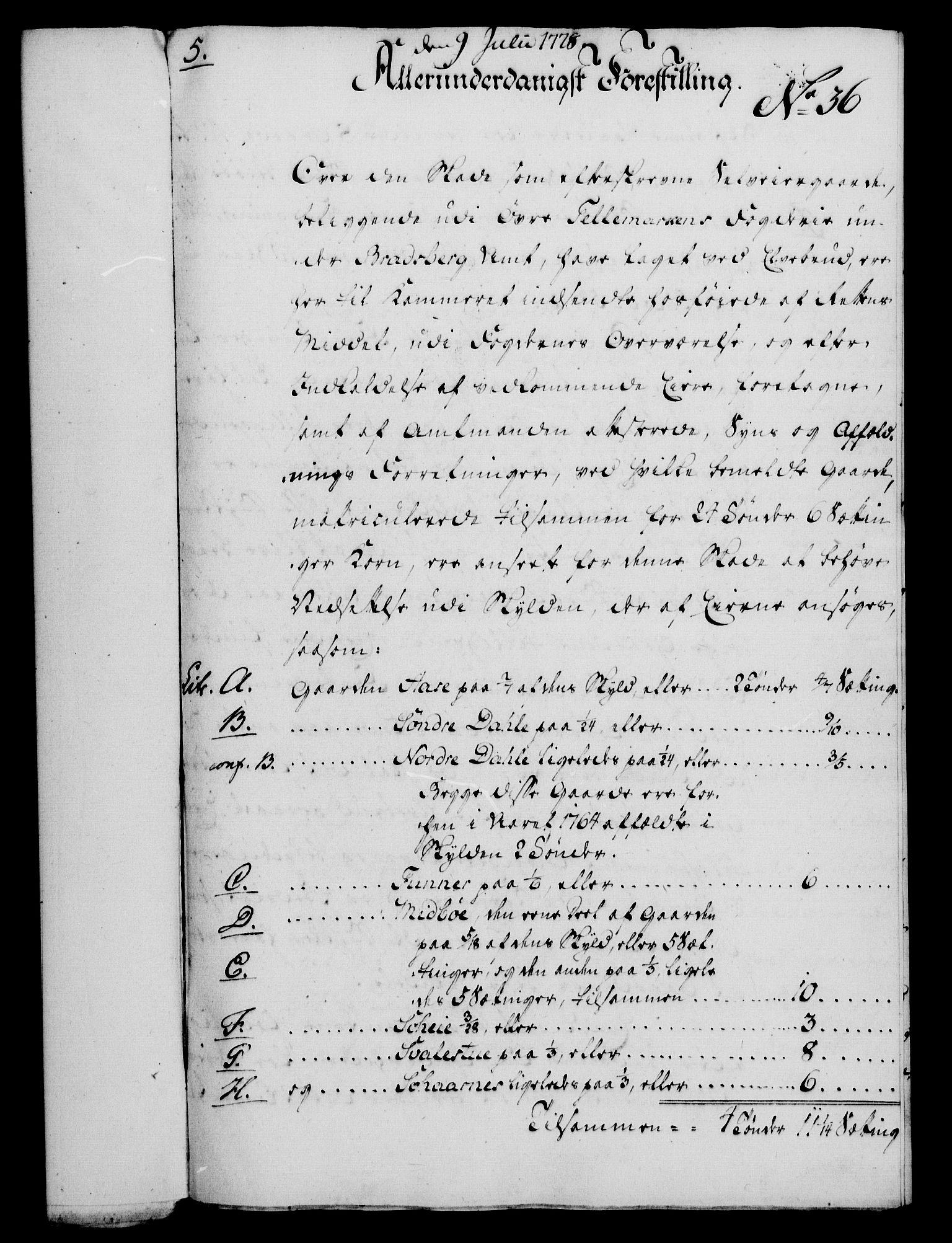 RA, Rentekammeret, Kammerkanselliet, G/Gf/Gfa/L0060: Norsk relasjons- og resolusjonsprotokoll (merket RK 52.60), 1778, s. 322