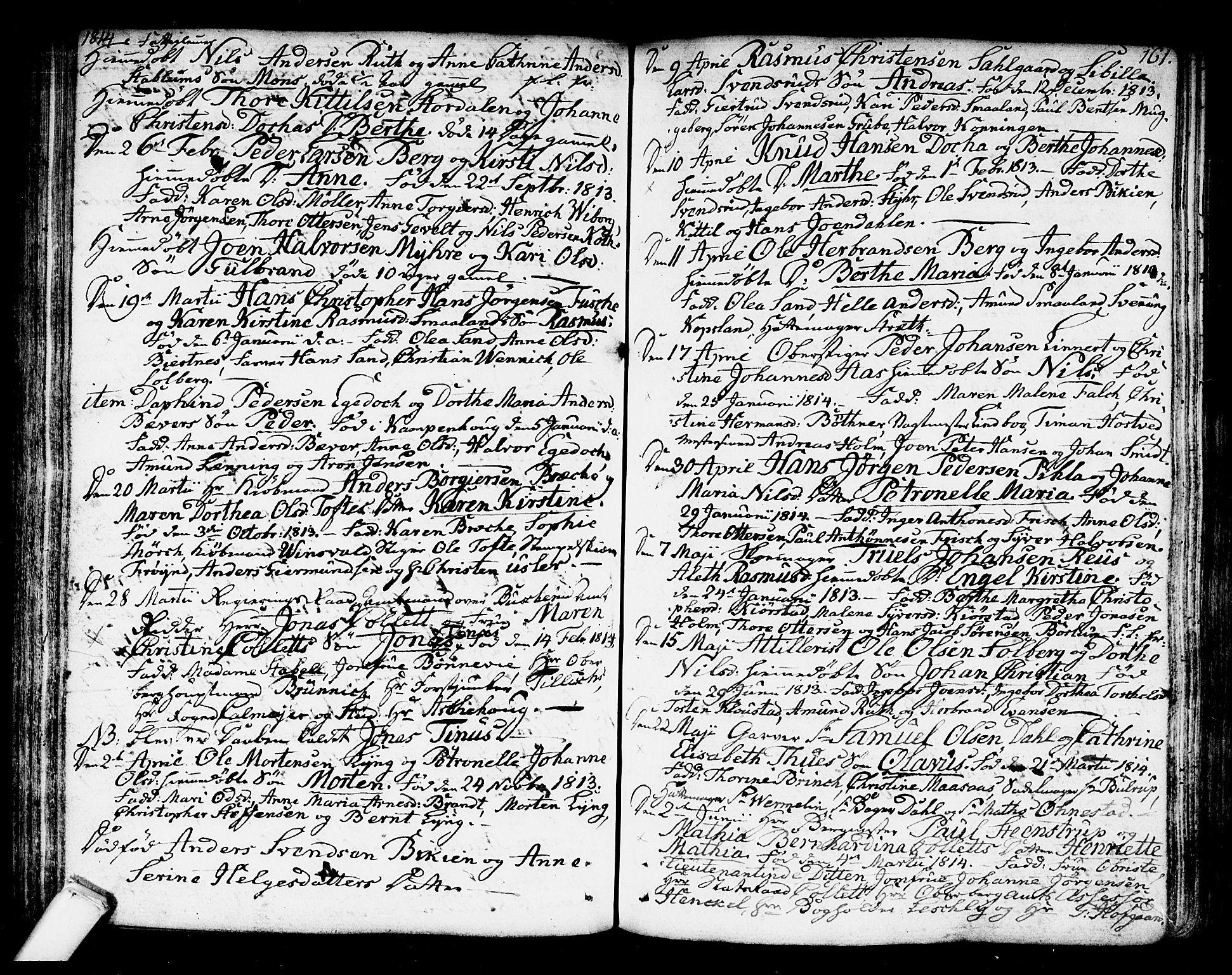 SAKO, Kongsberg kirkebøker, F/Fa/L0007: Ministerialbok nr. I 7, 1795-1816, s. 161