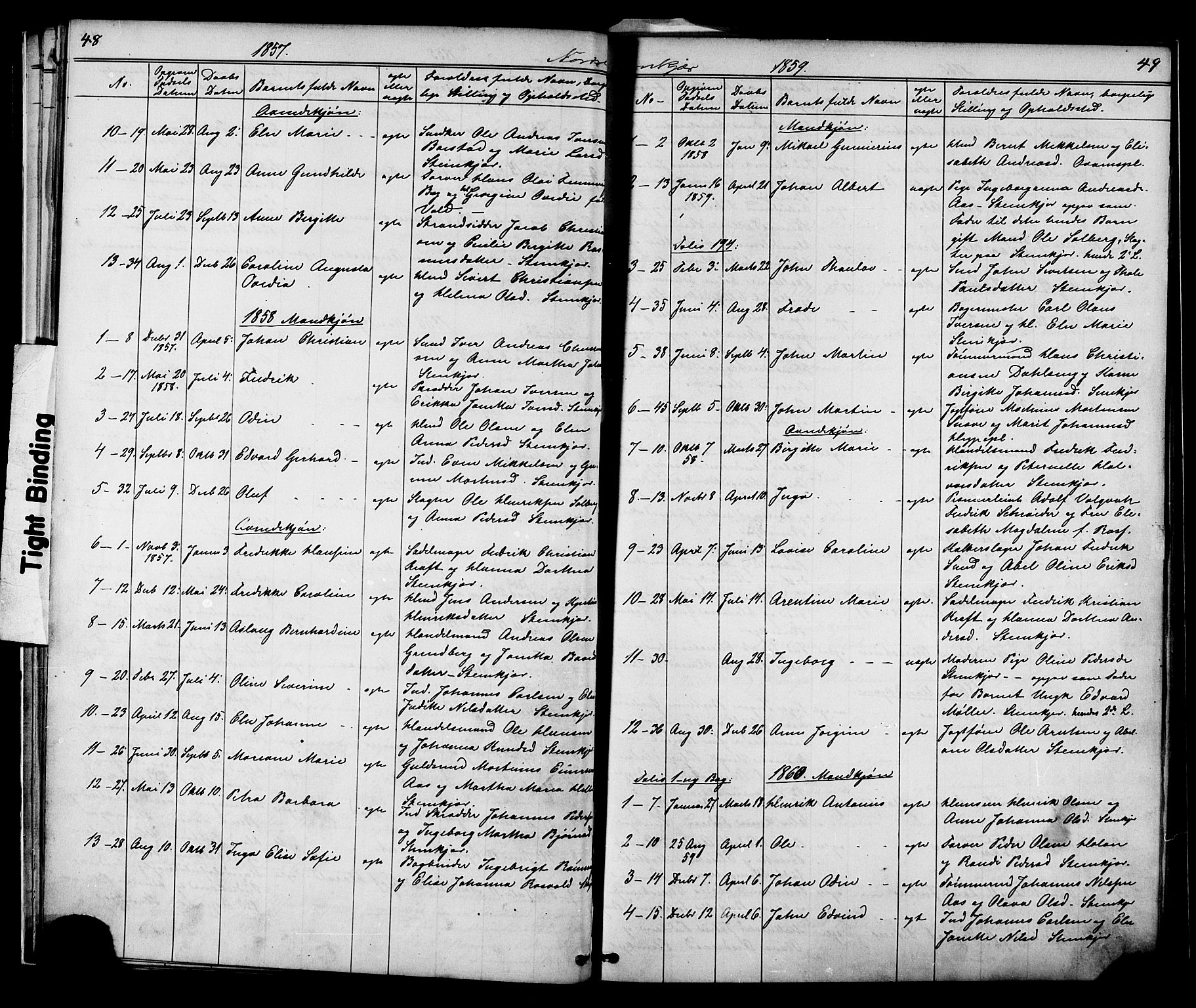 SAT, Ministerialprotokoller, klokkerbøker og fødselsregistre - Nord-Trøndelag, 739/L0367: Ministerialbok nr. 739A01 /2, 1838-1868, s. 48-49