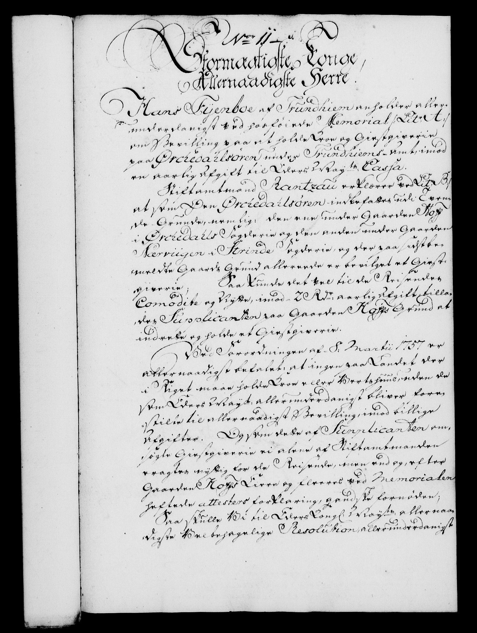 RA, Rentekammeret, Kammerkanselliet, G/Gf/Gfa/L0046: Norsk relasjons- og resolusjonsprotokoll (merket RK 52.46), 1764, s. 58