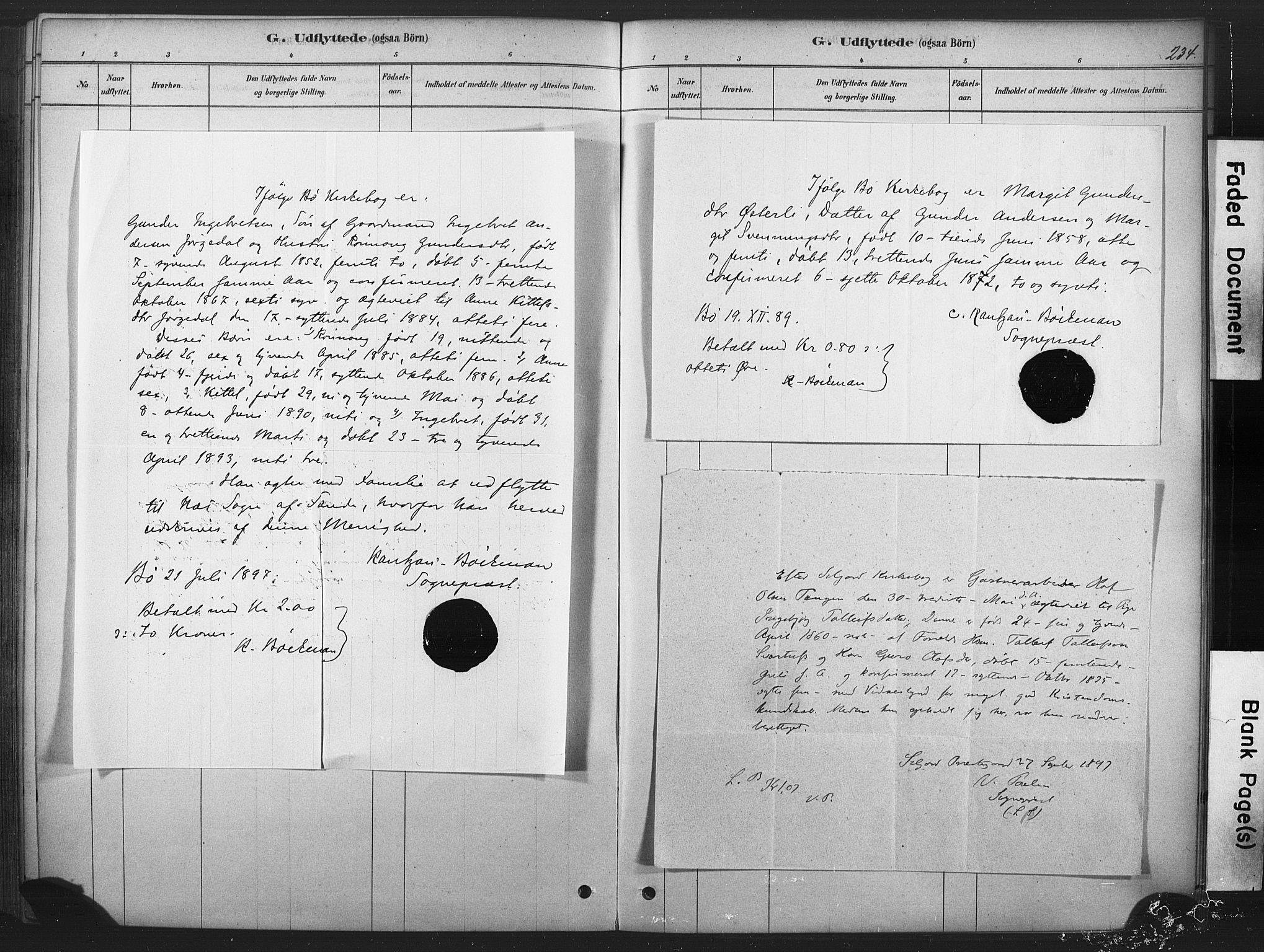 SAKO, Sauherad kirkebøker, F/Fb/L0002: Ministerialbok nr. II 2, 1878-1901, s. 234
