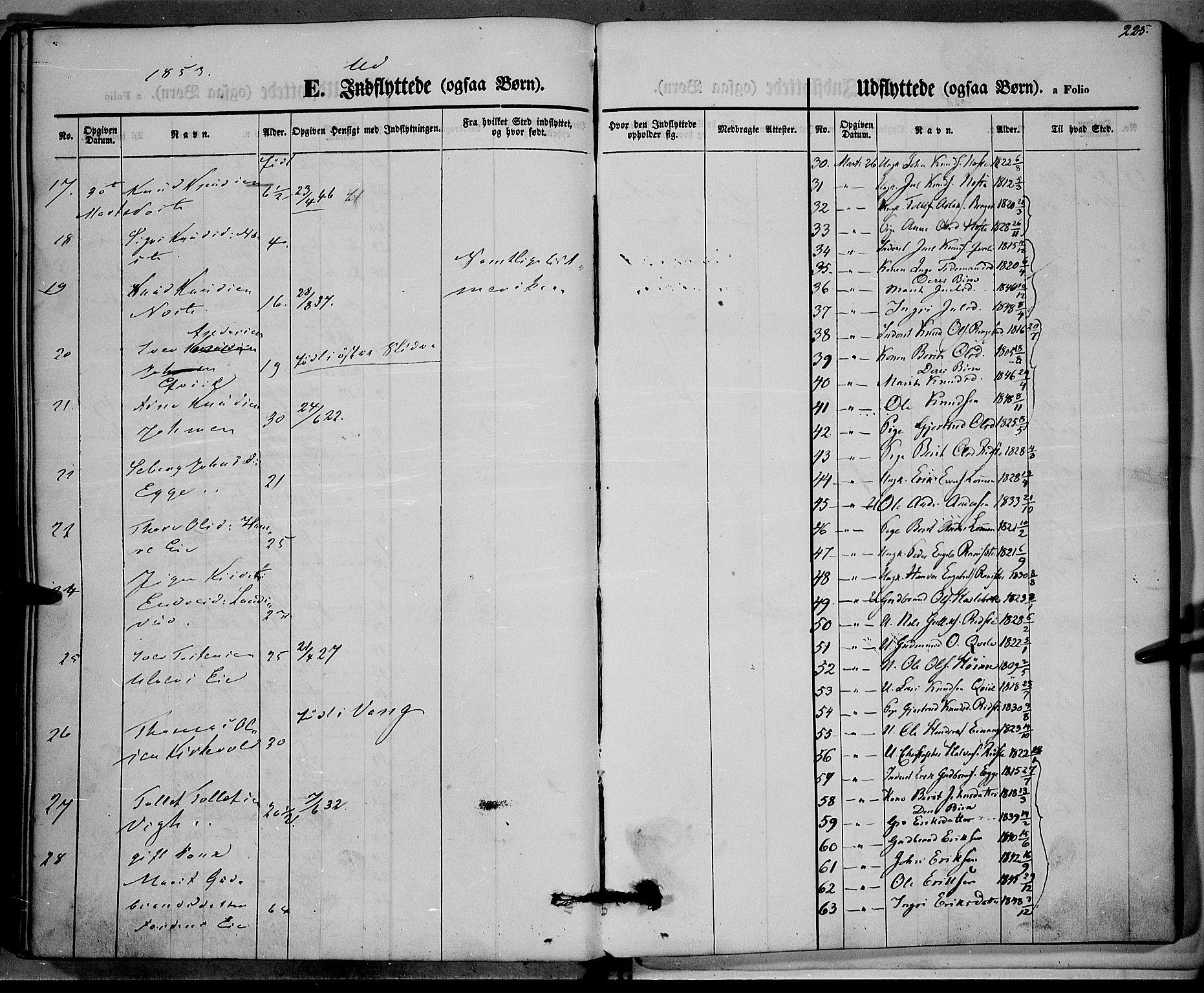 SAH, Vestre Slidre prestekontor, Ministerialbok nr. 1, 1844-1855, s. 225
