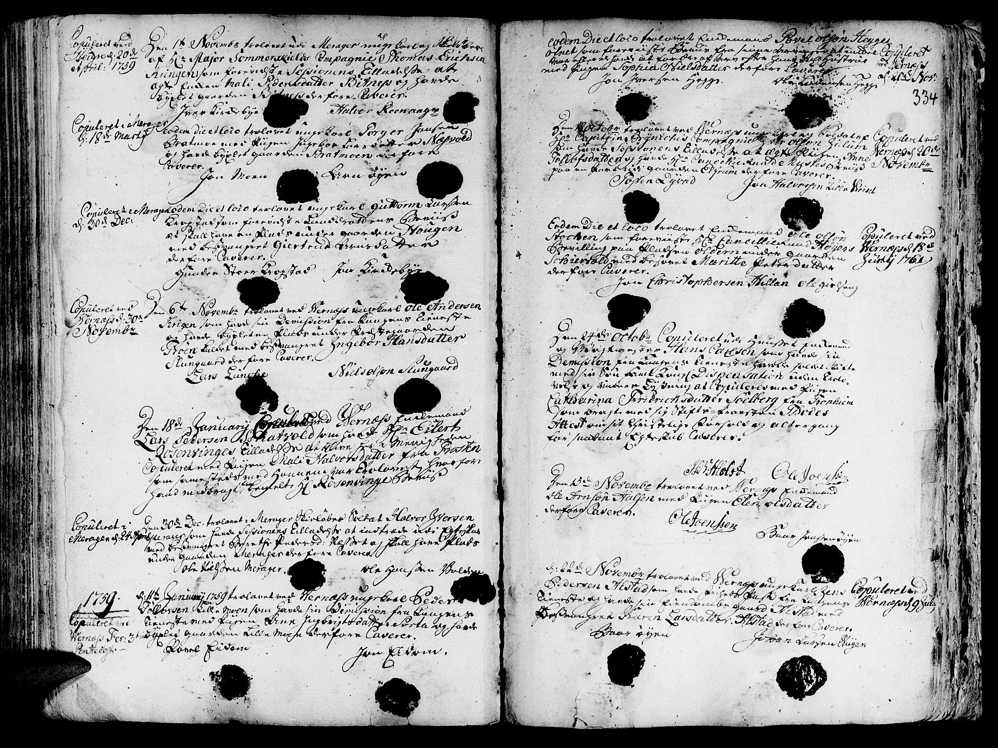 SAT, Ministerialprotokoller, klokkerbøker og fødselsregistre - Nord-Trøndelag, 709/L0057: Ministerialbok nr. 709A05, 1755-1780, s. 334