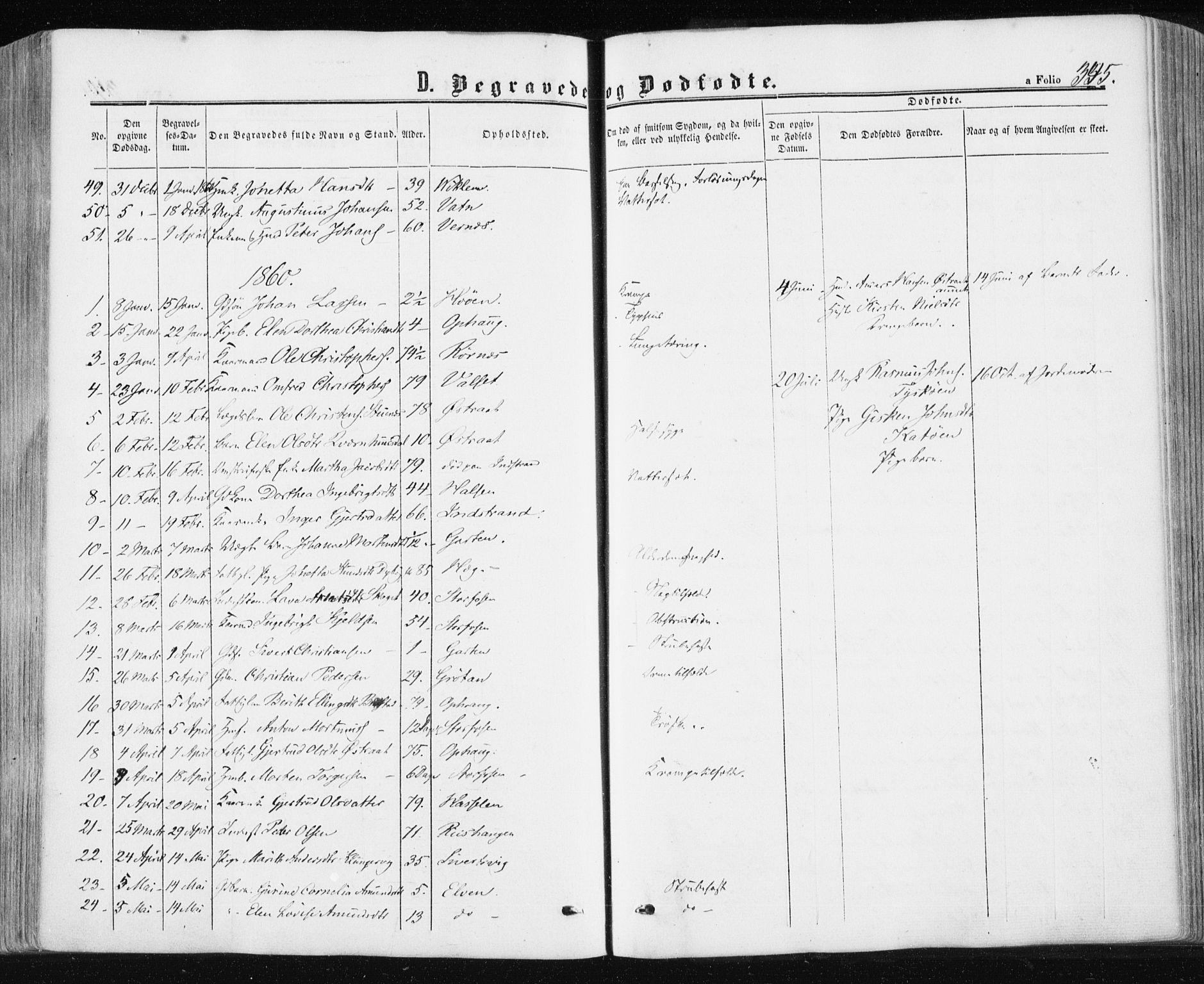 SAT, Ministerialprotokoller, klokkerbøker og fødselsregistre - Sør-Trøndelag, 659/L0737: Ministerialbok nr. 659A07, 1857-1875, s. 345