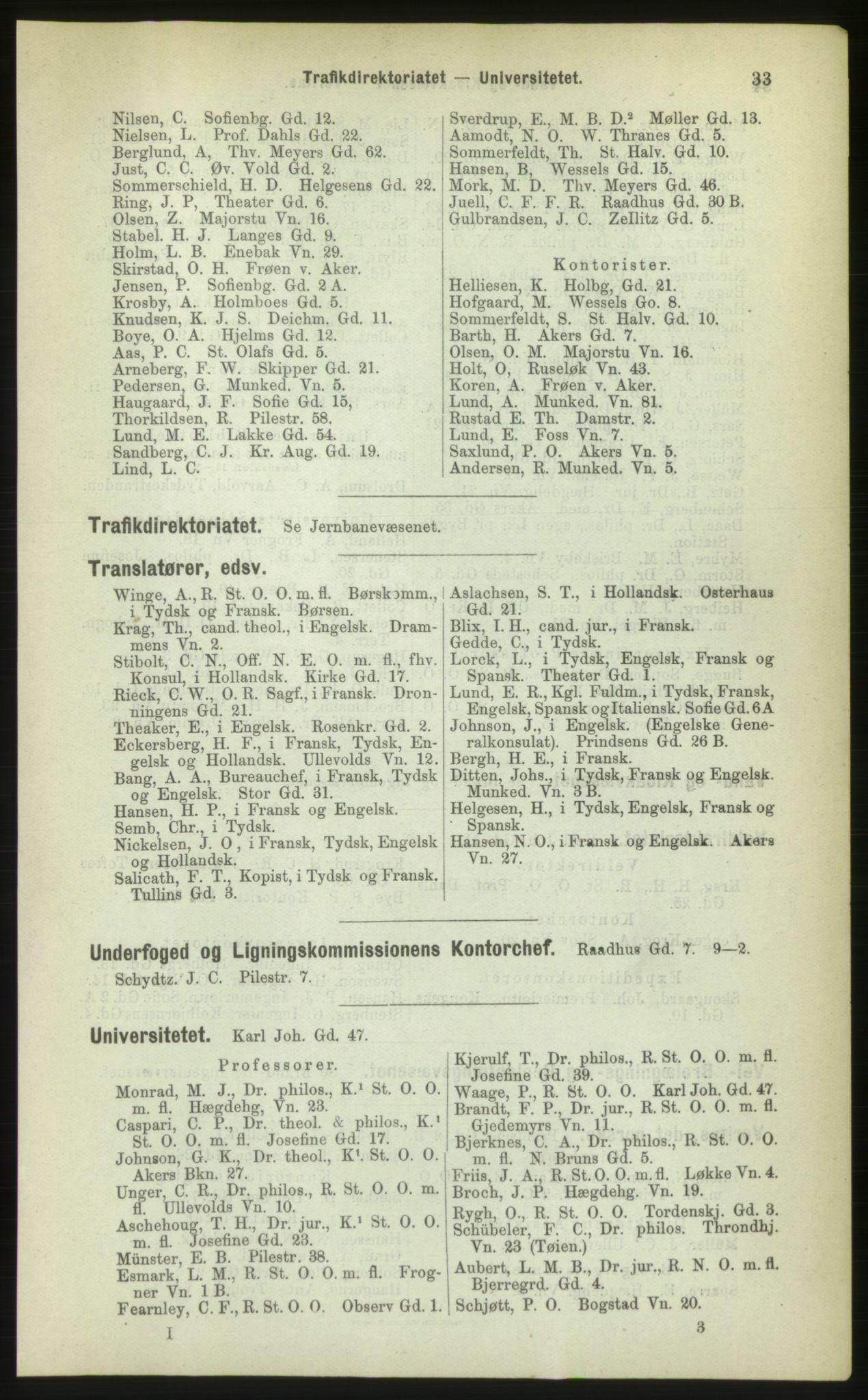 PUBL, Kristiania/Oslo adressebok, 1883, s. 33