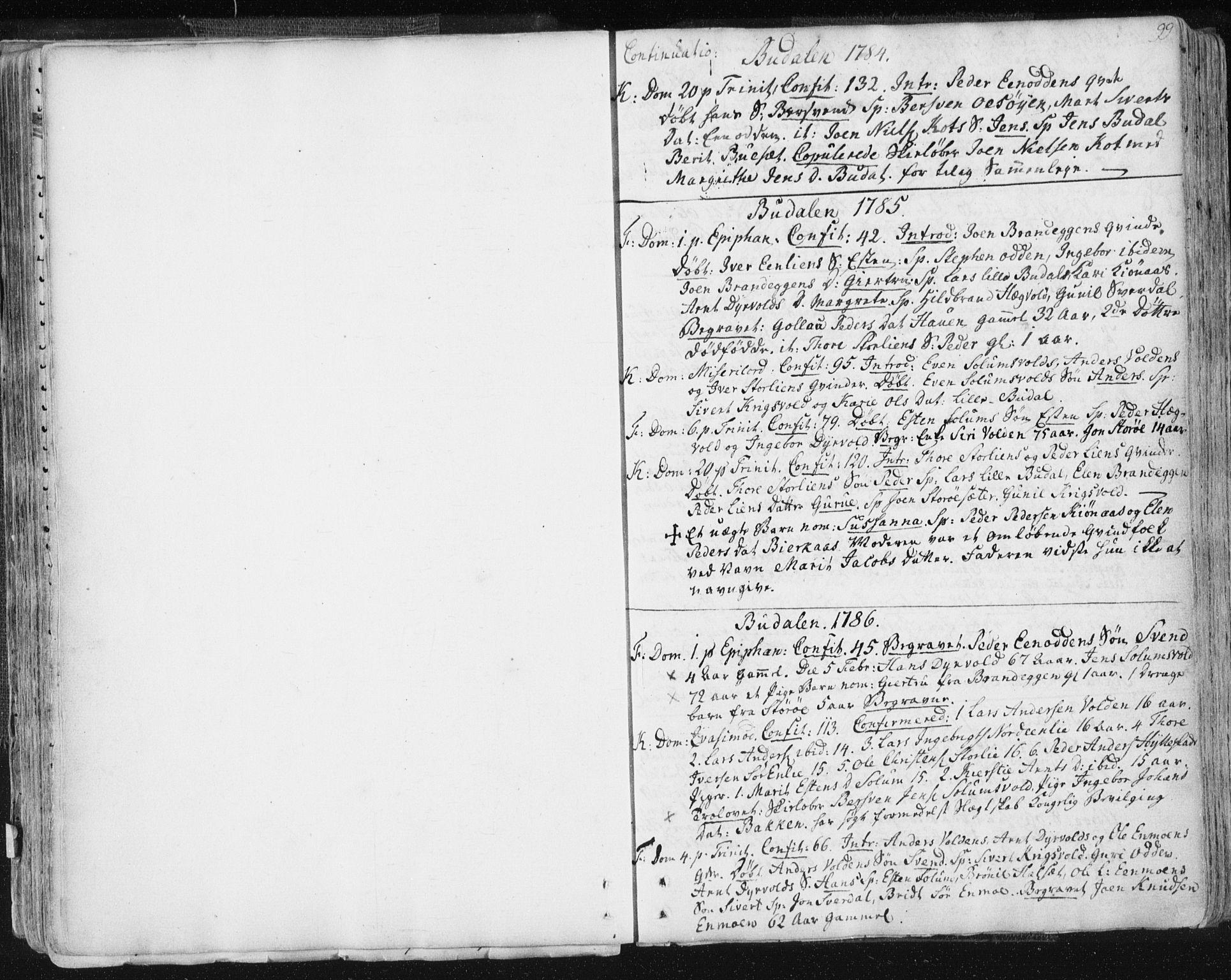 SAT, Ministerialprotokoller, klokkerbøker og fødselsregistre - Sør-Trøndelag, 687/L0991: Ministerialbok nr. 687A02, 1747-1790, s. 99