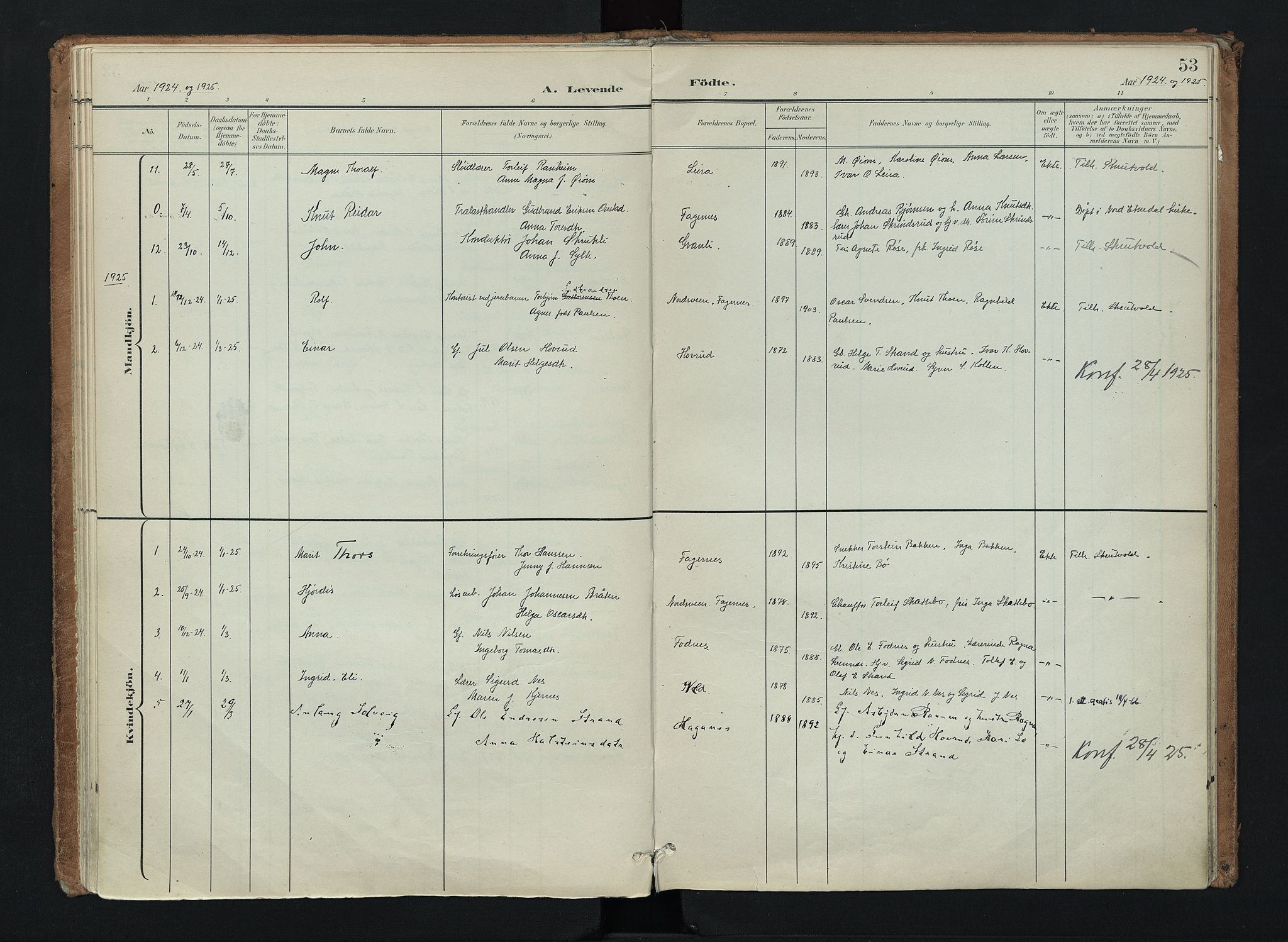 SAH, Nord-Aurdal prestekontor, Ministerialbok nr. 16, 1897-1925, s. 53